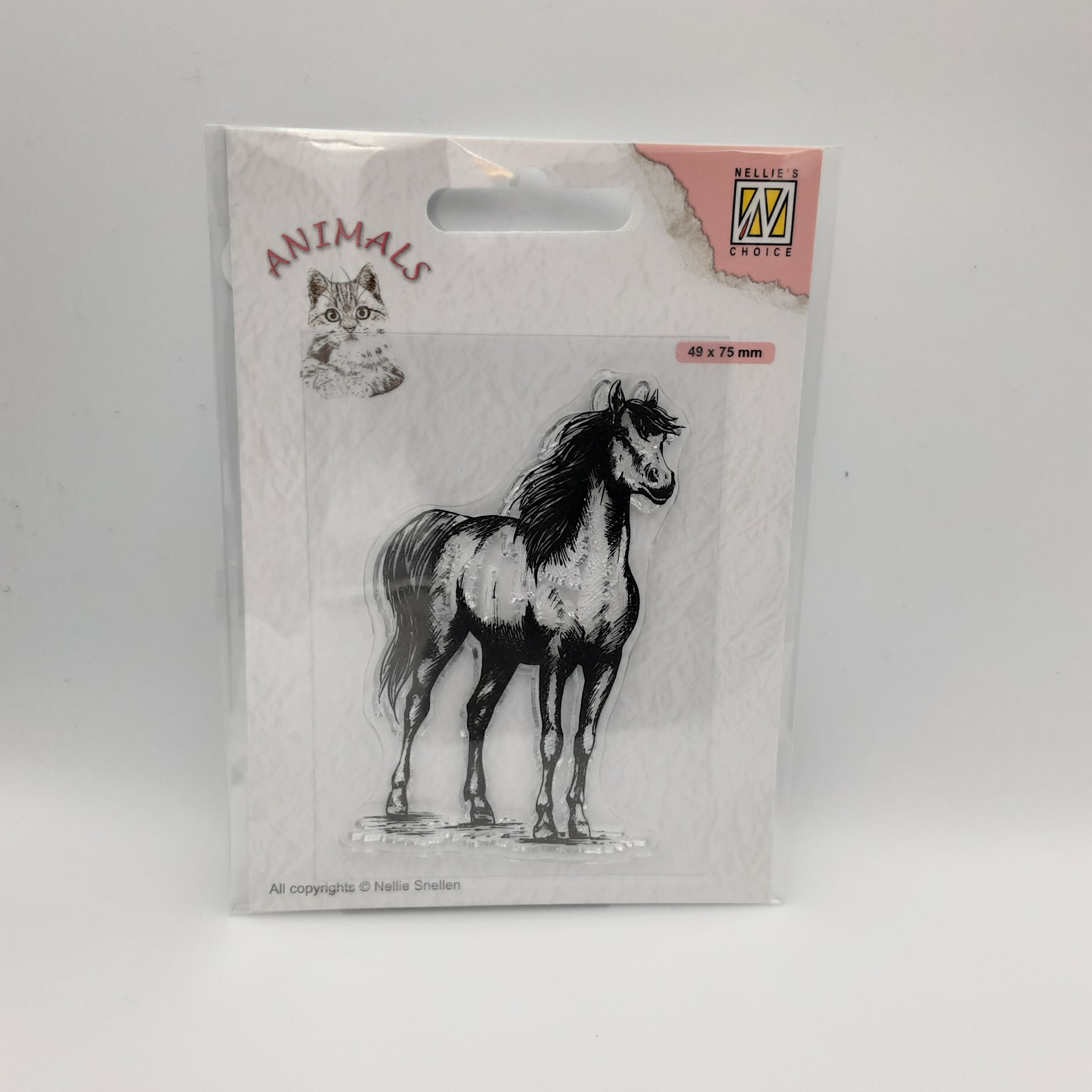 Clear stamp horse