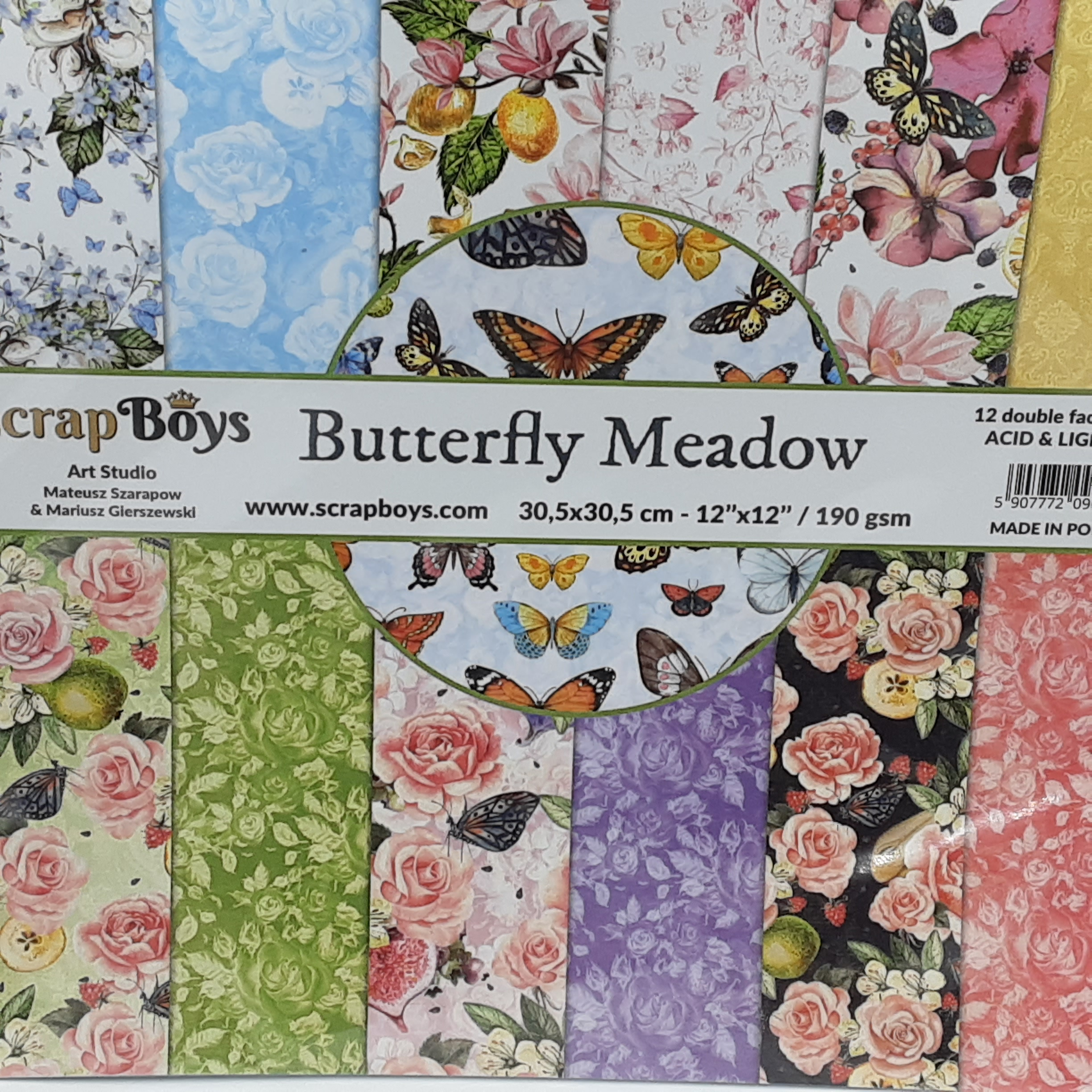 butterfly meadow designpapier