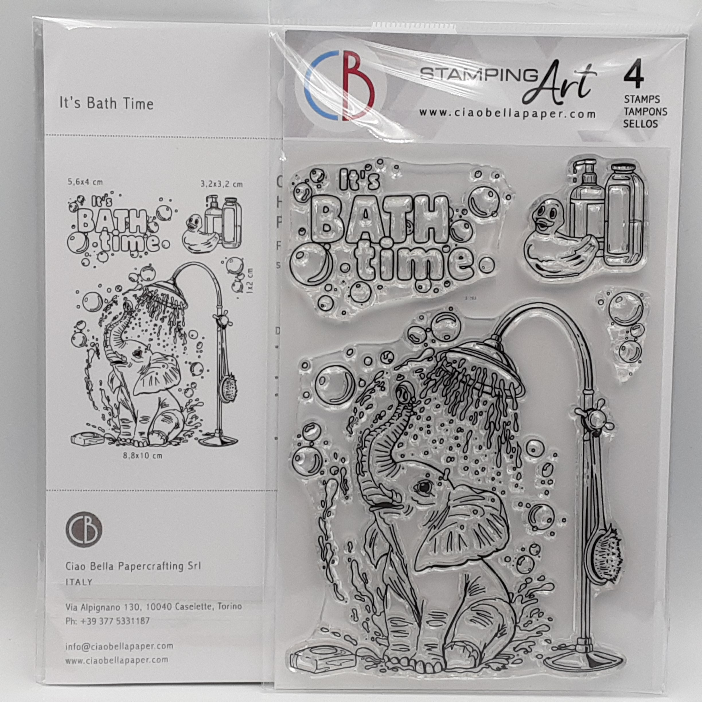 clear stamp set it's bath time