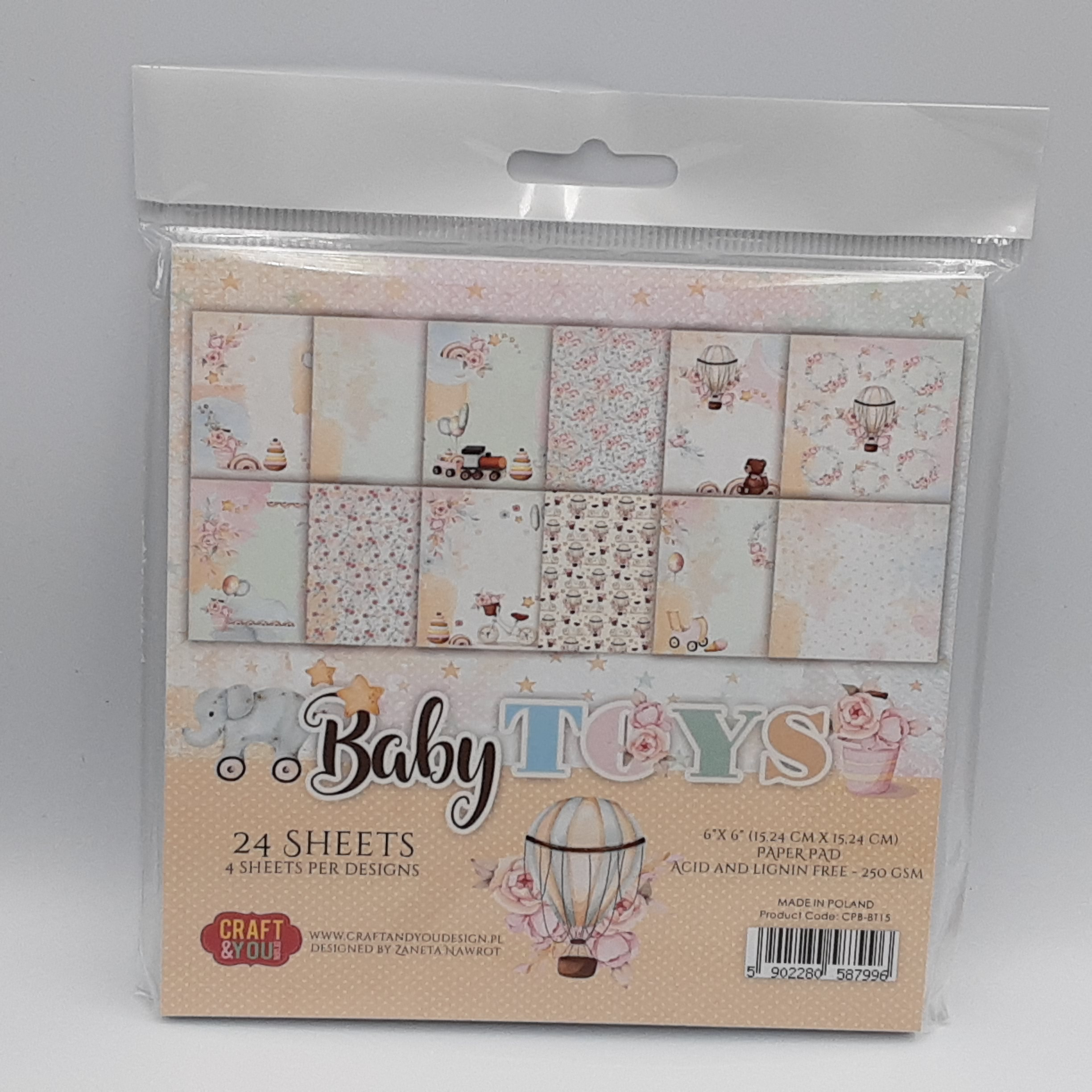 small paperpad baby toys