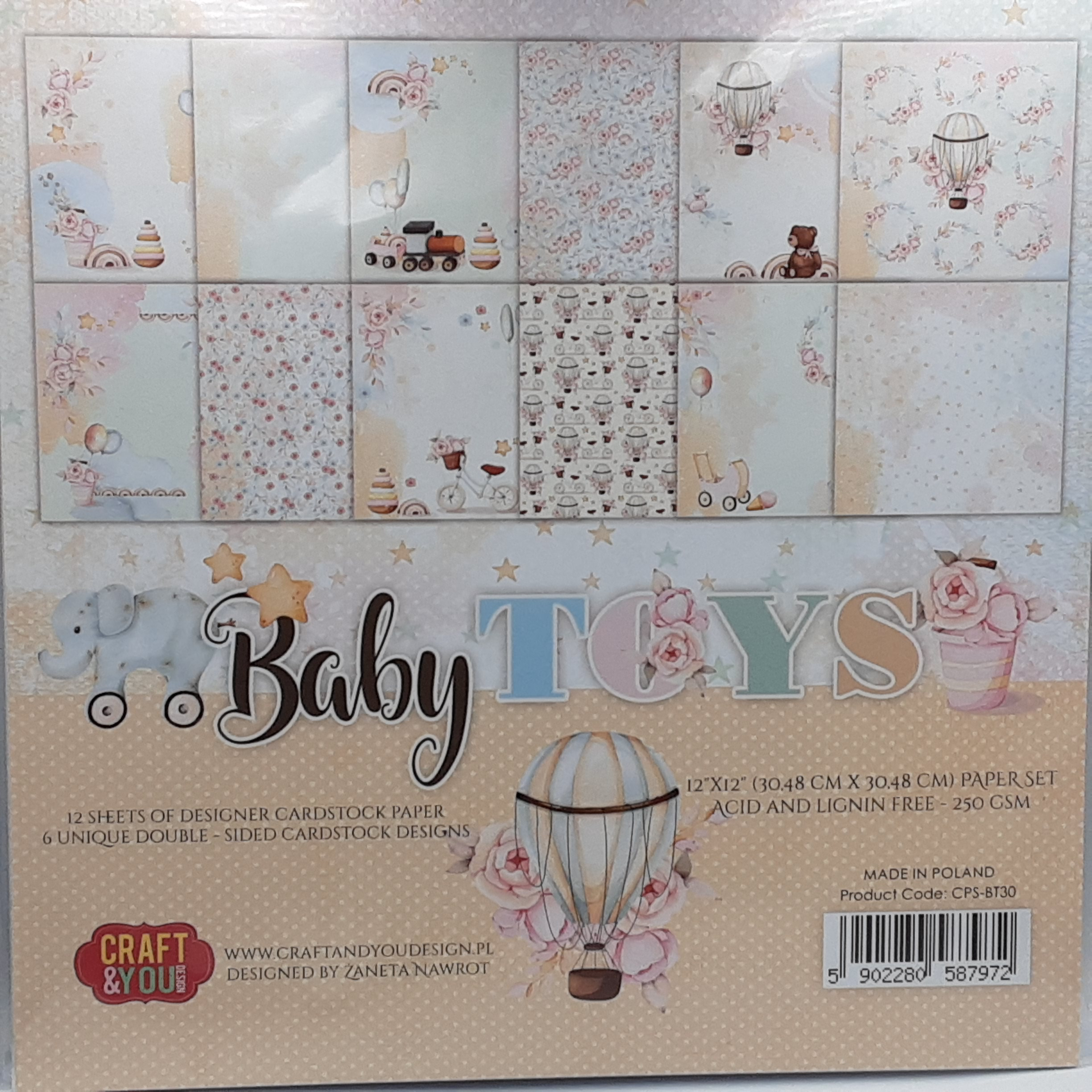 big paperset baby toys
