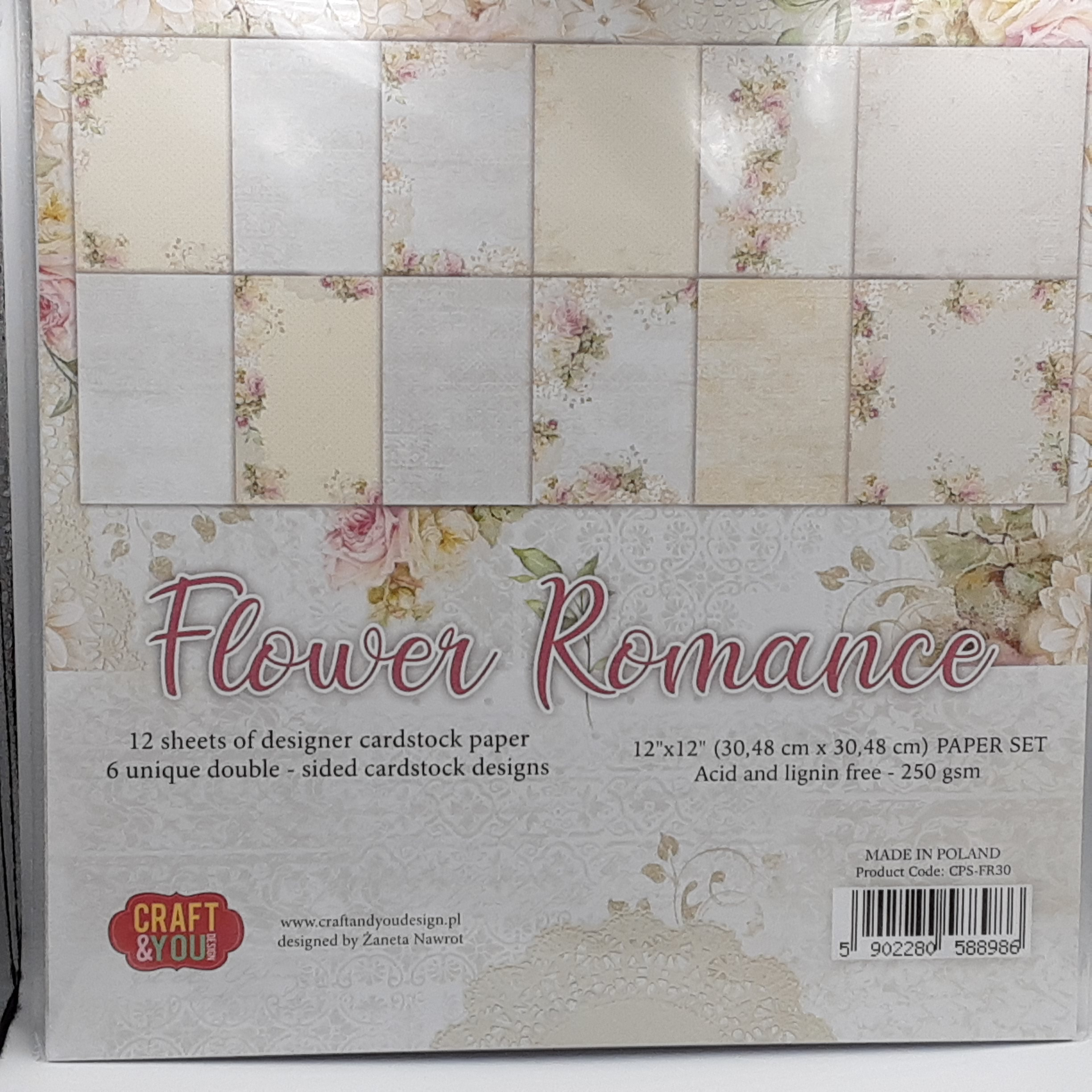 big paper set flower romance
