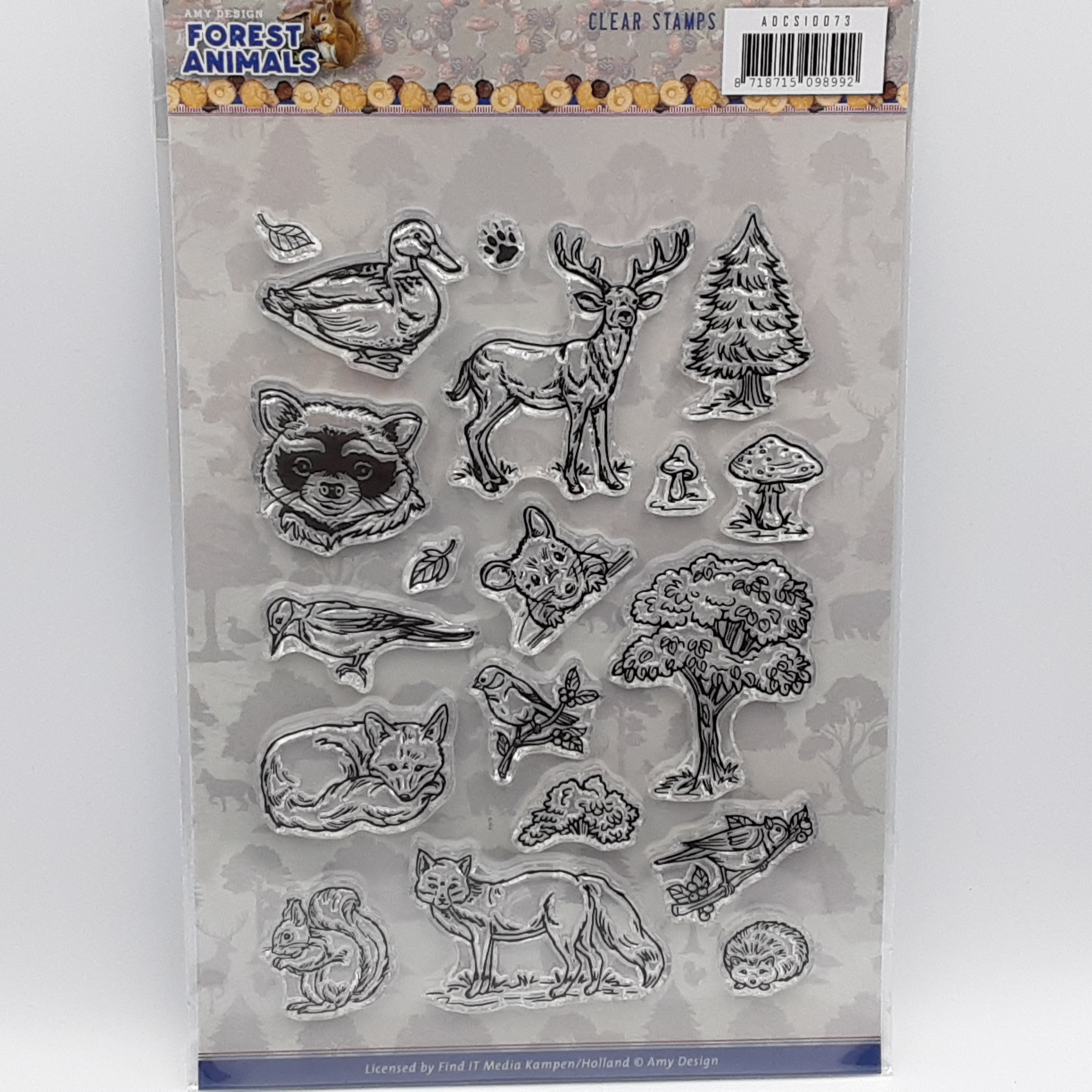 Forest animals clear stamps