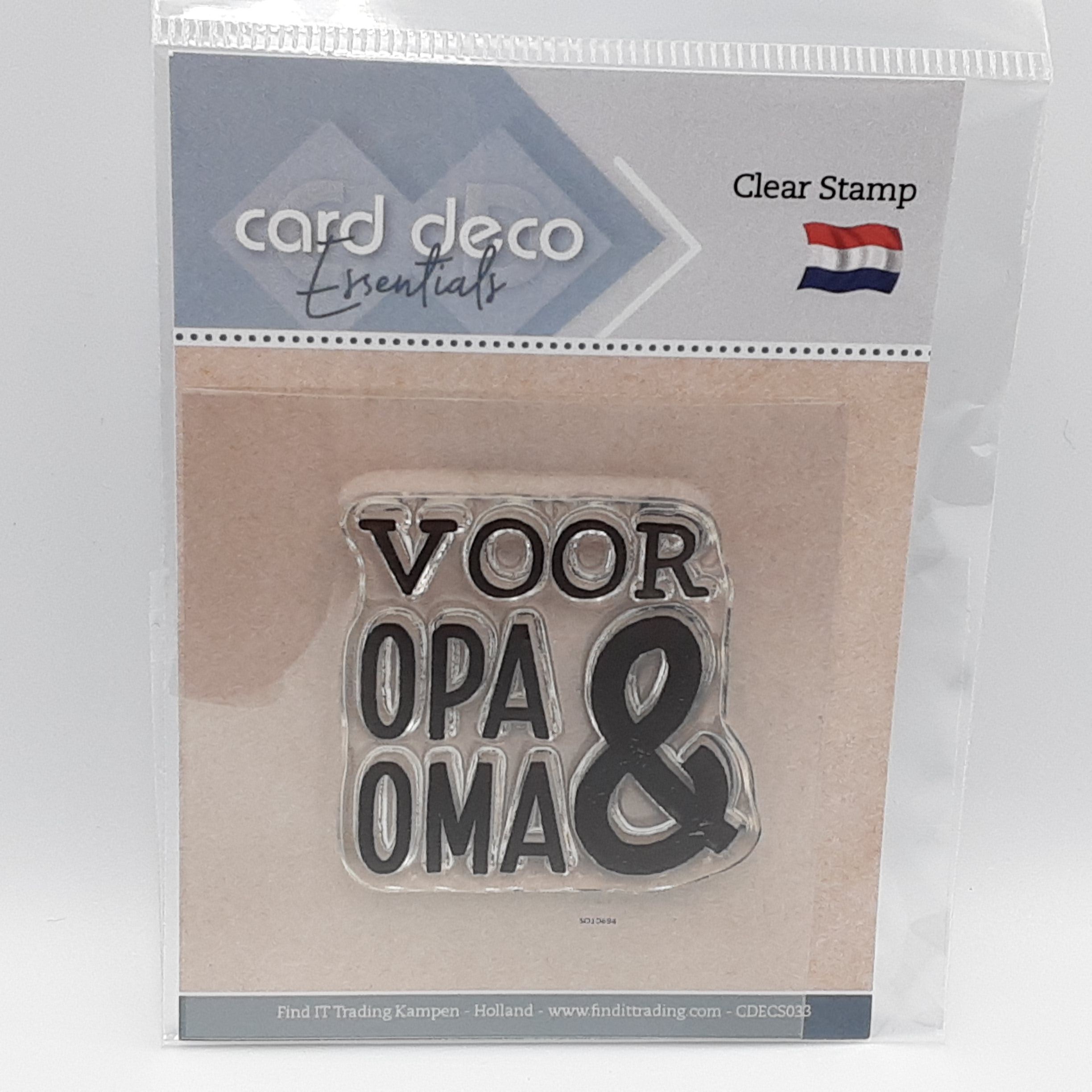 Clear stamps voor opa & oma