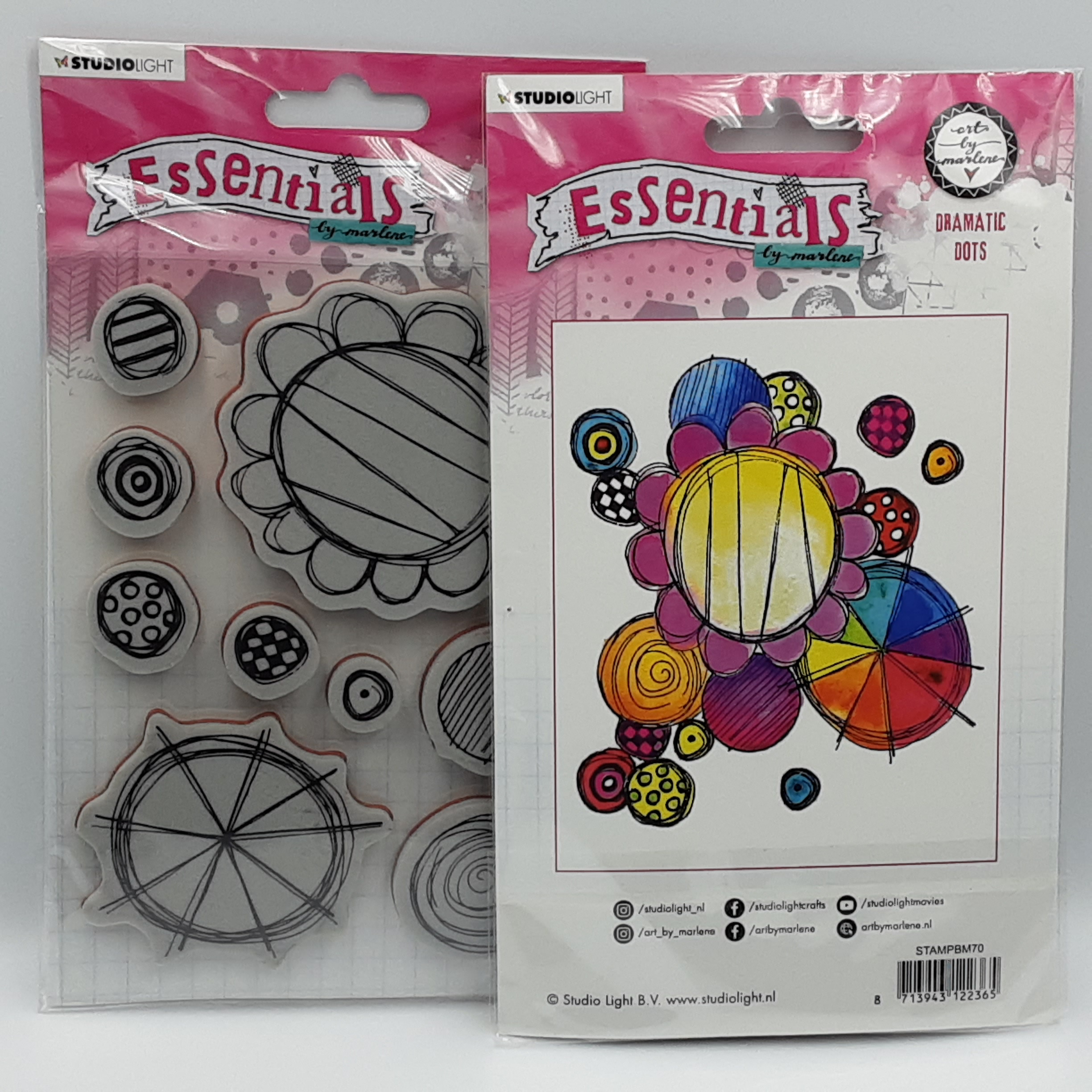 Dramatic dots rubber stamp