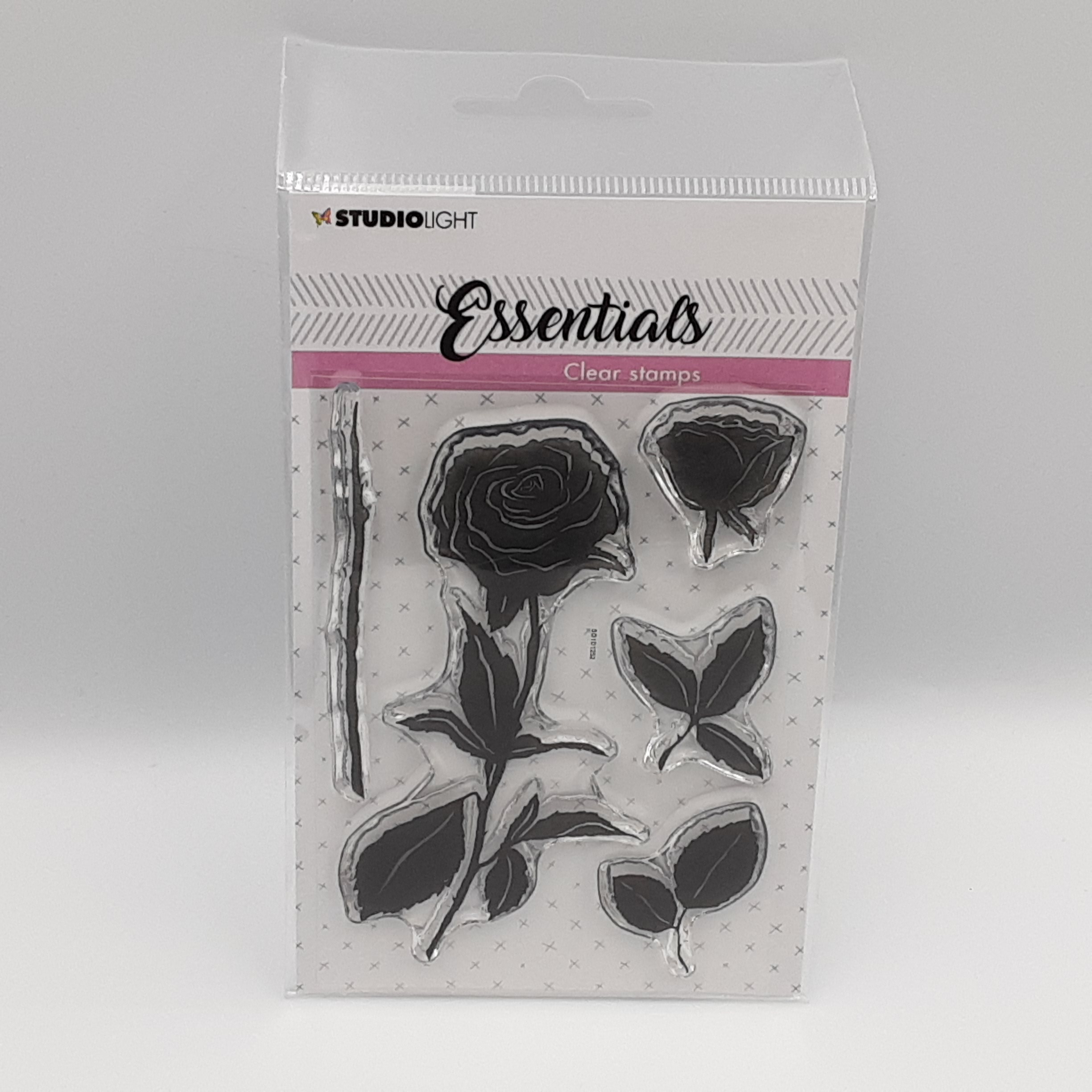 Roses clear stamp