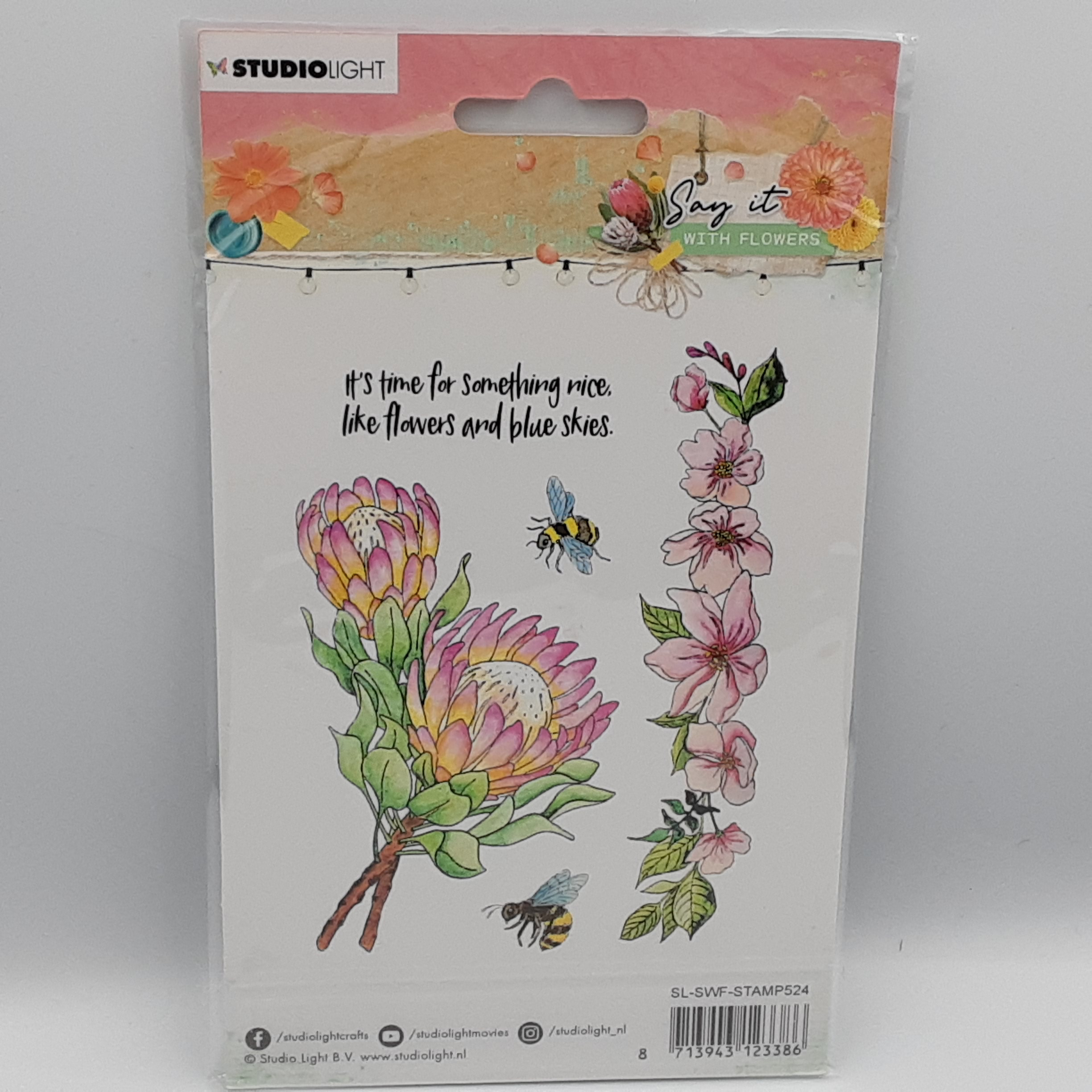 Say it with flowers nr 524 clear stamp