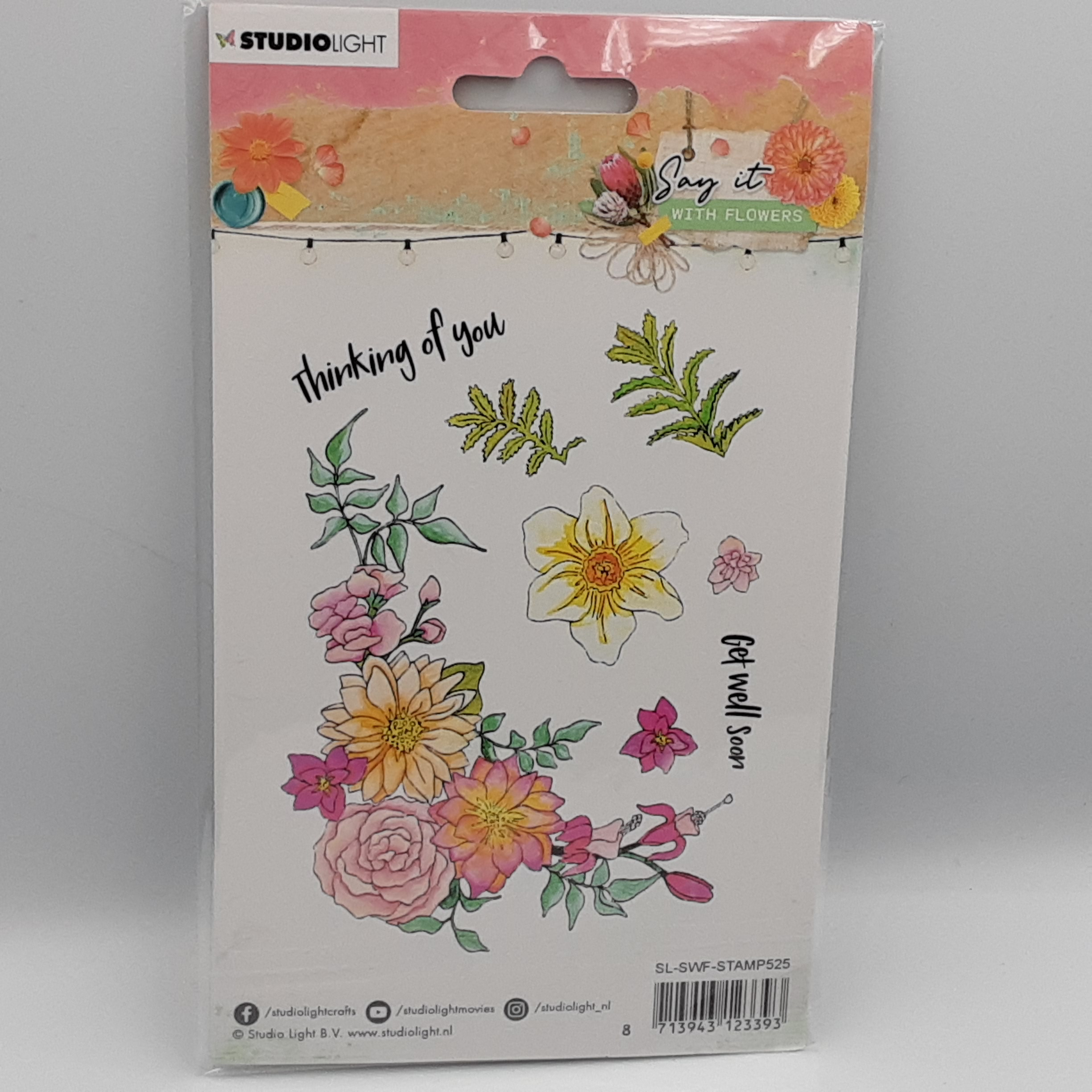 Say it with flowers  nr 525 clear stamp