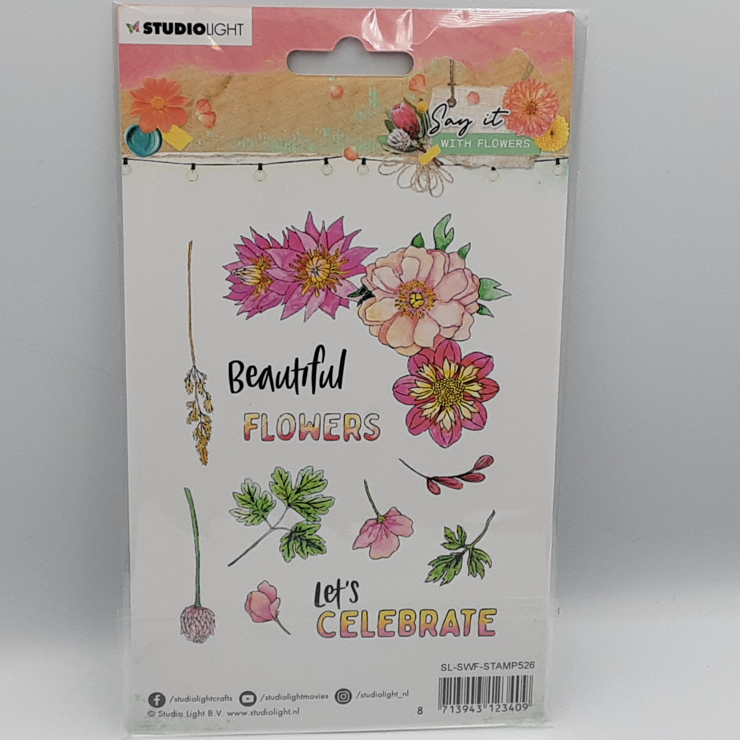 Say it with flowers  nr 526 clear stamp