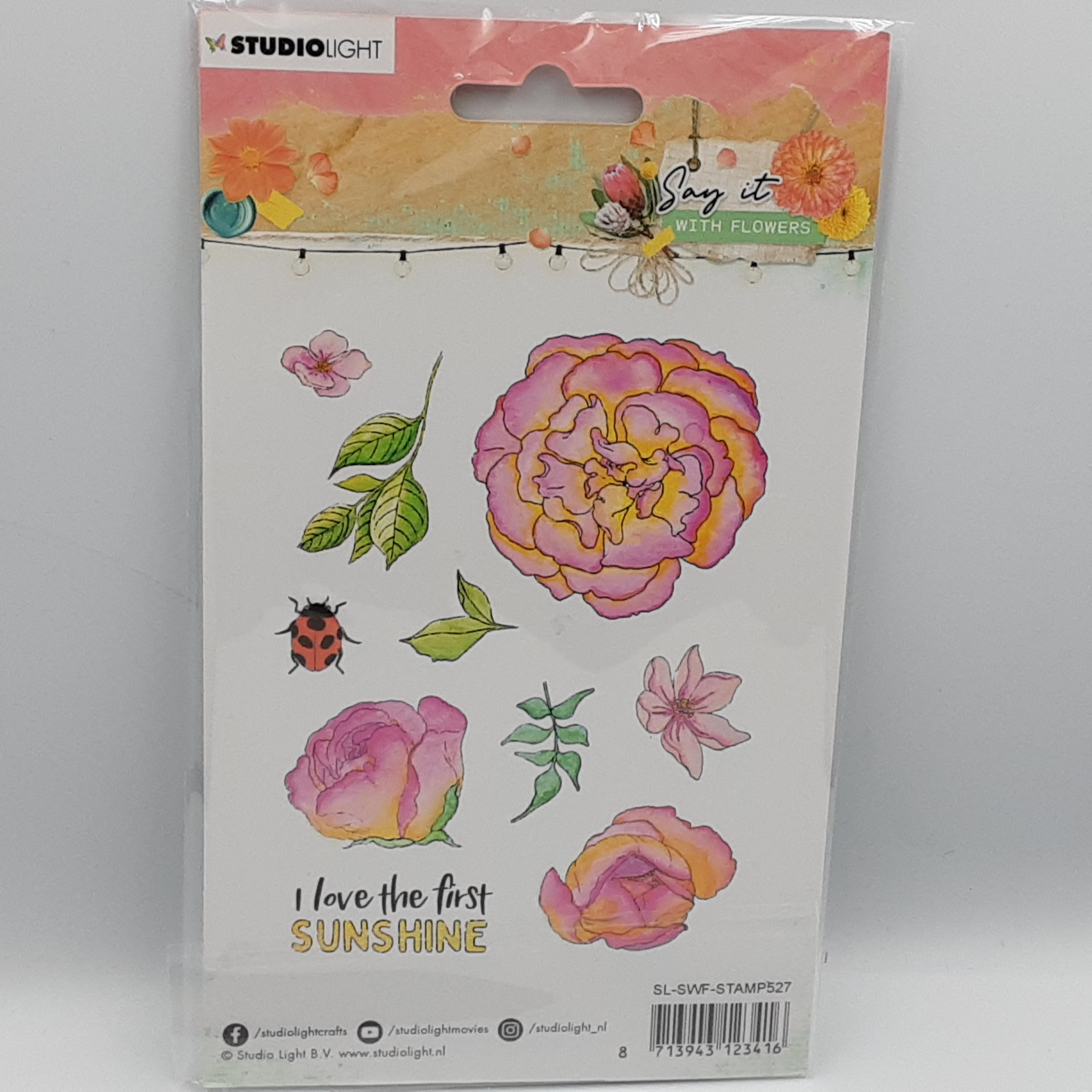 Say it with flowers  nr 527 clear stamp
