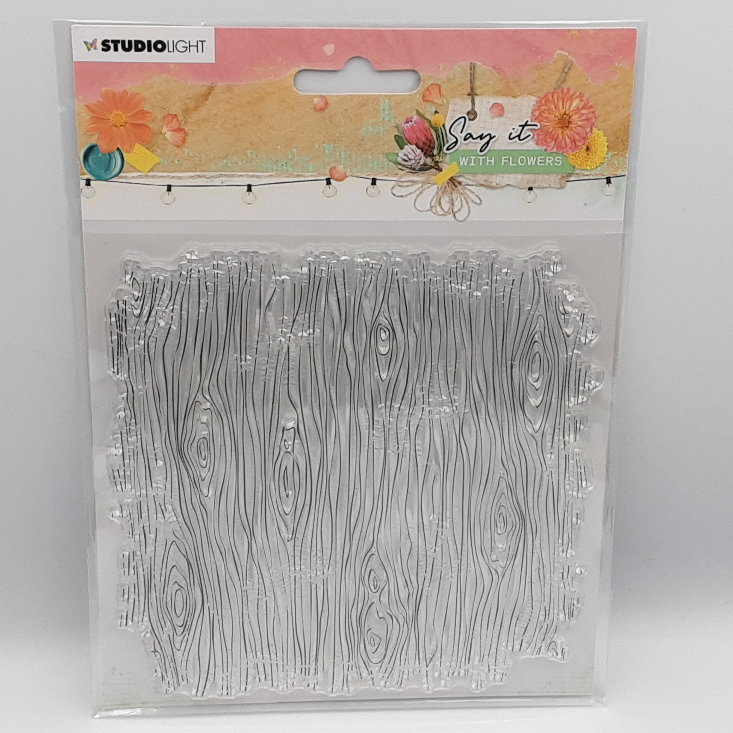 Say it with flowers background nr 529 clear stamp