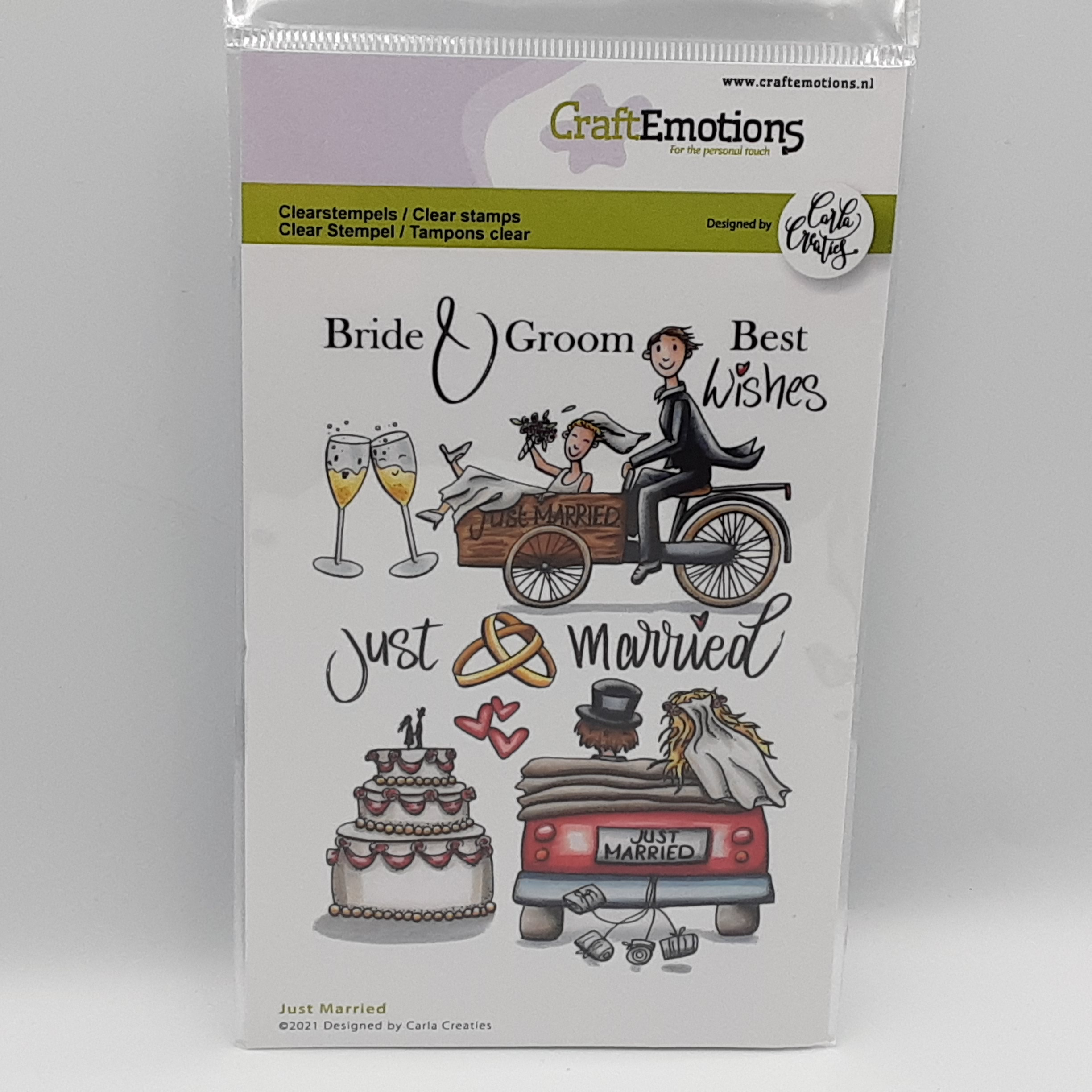 Just married clear stamp