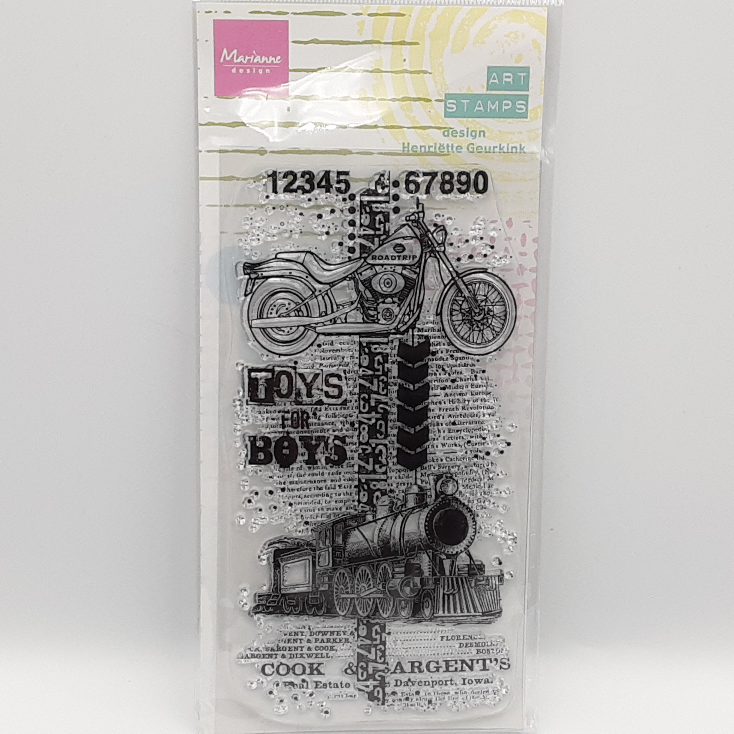 Toys for boys art stamps