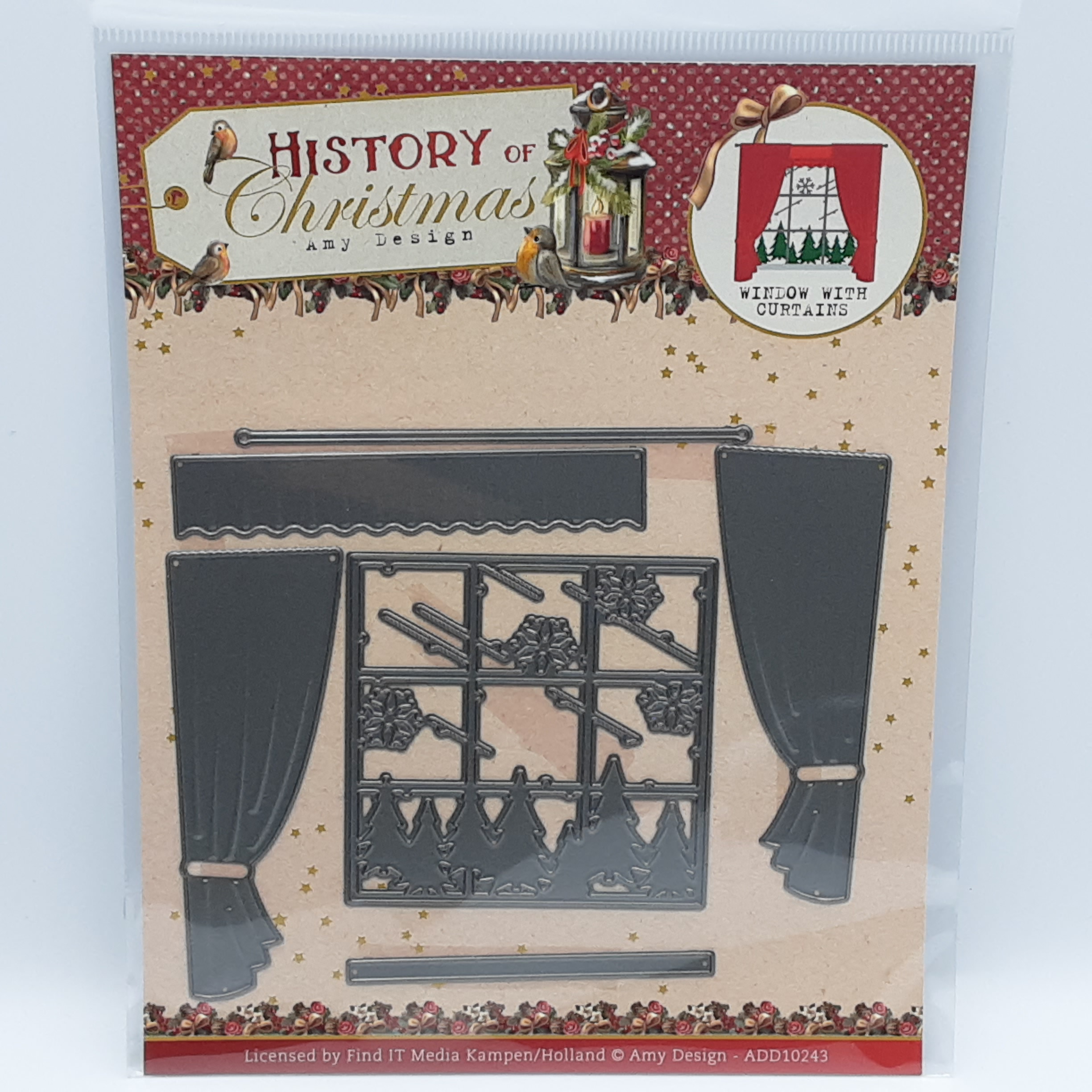 Window with curtains History of christmas stansmal