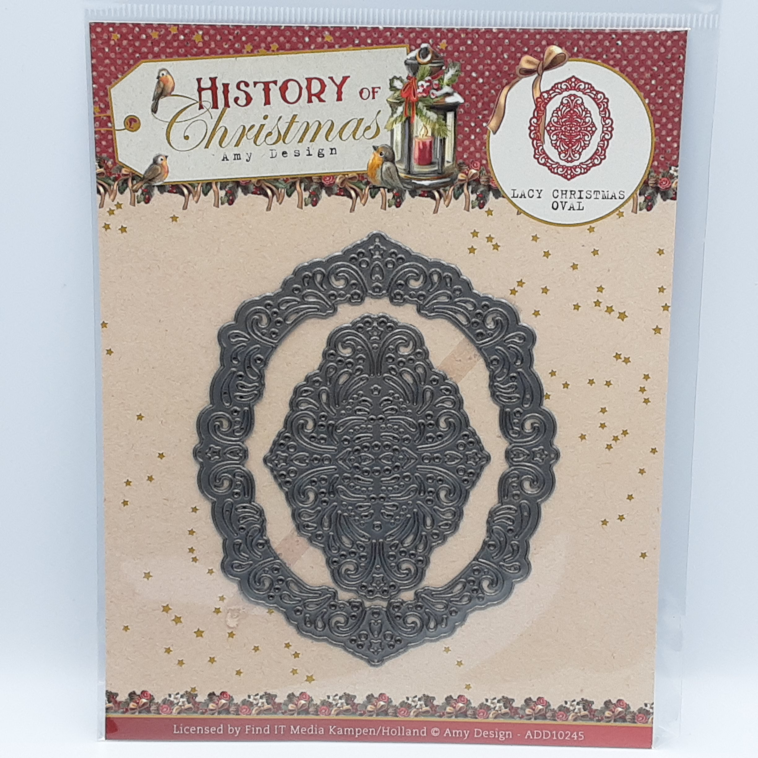 Lacy christmas oval History of christmas stansmal