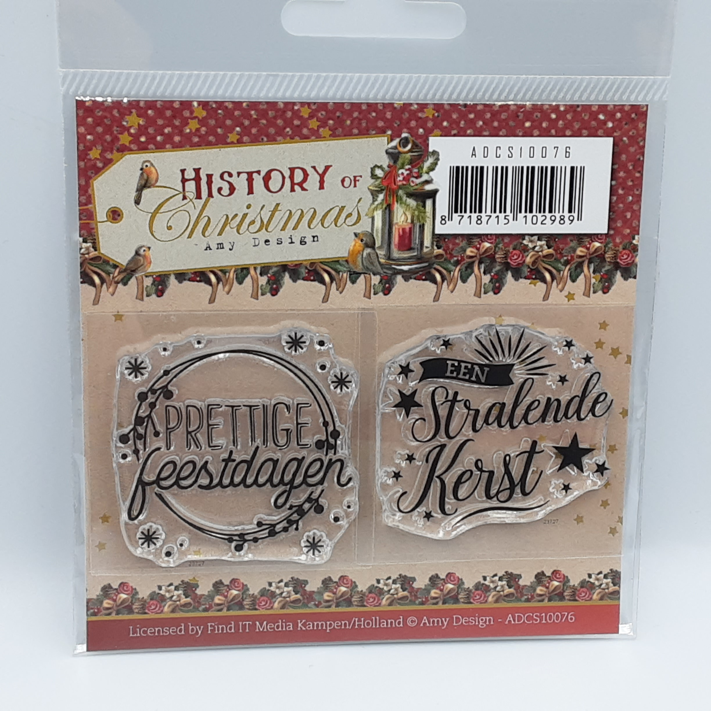 History of christmas mini clear stamp set