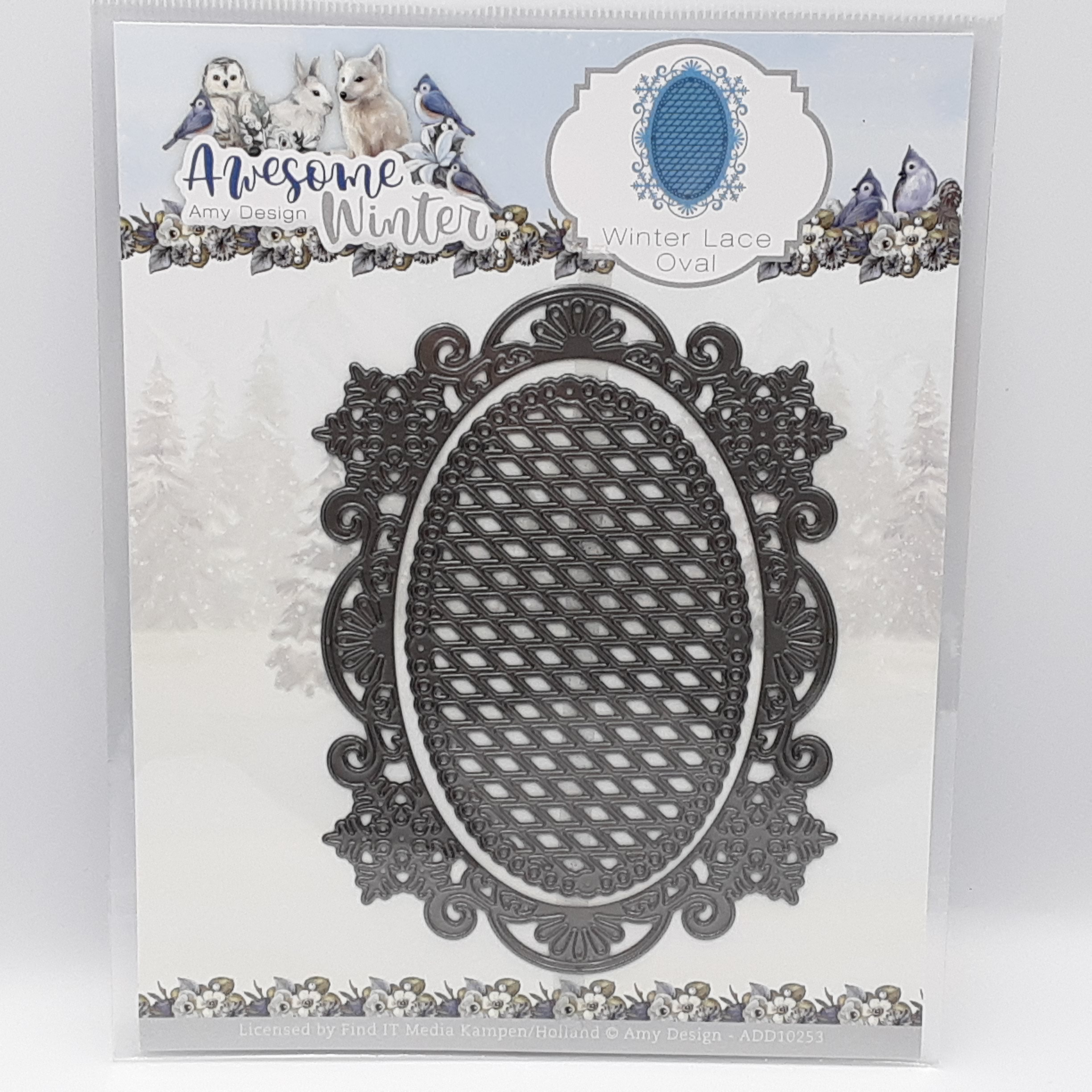Winter lace oval  awesome winter