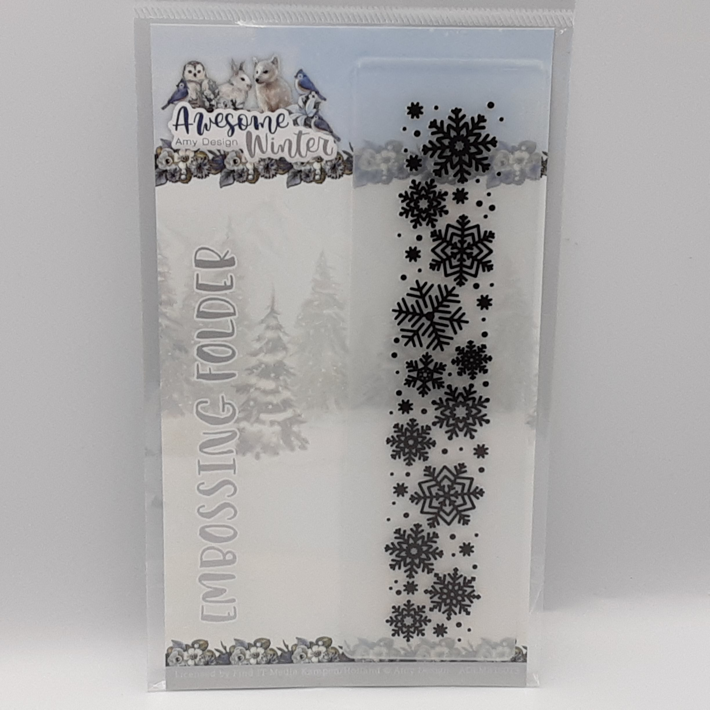 Embossing folder awesome winter