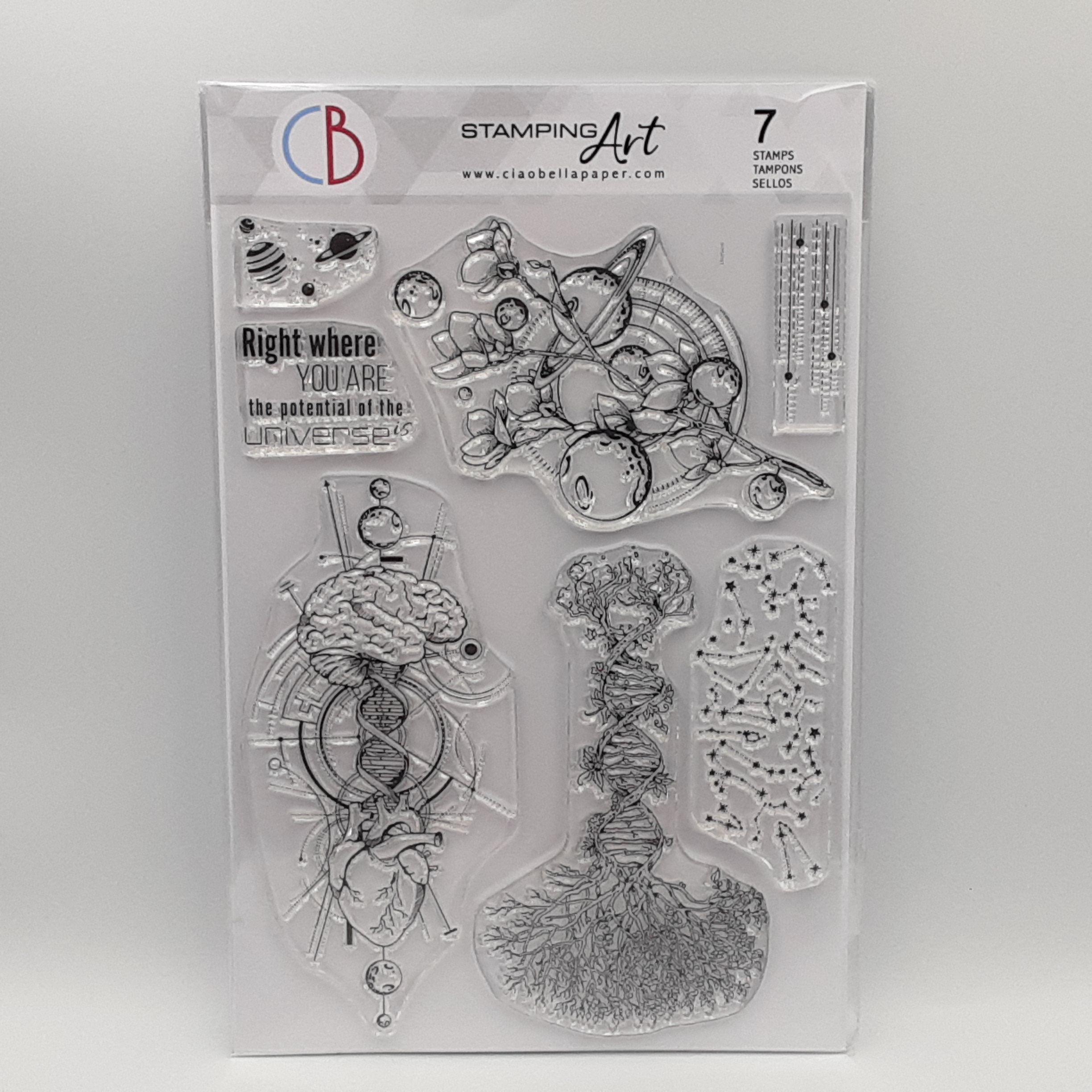clear stamp universe is heart and mind