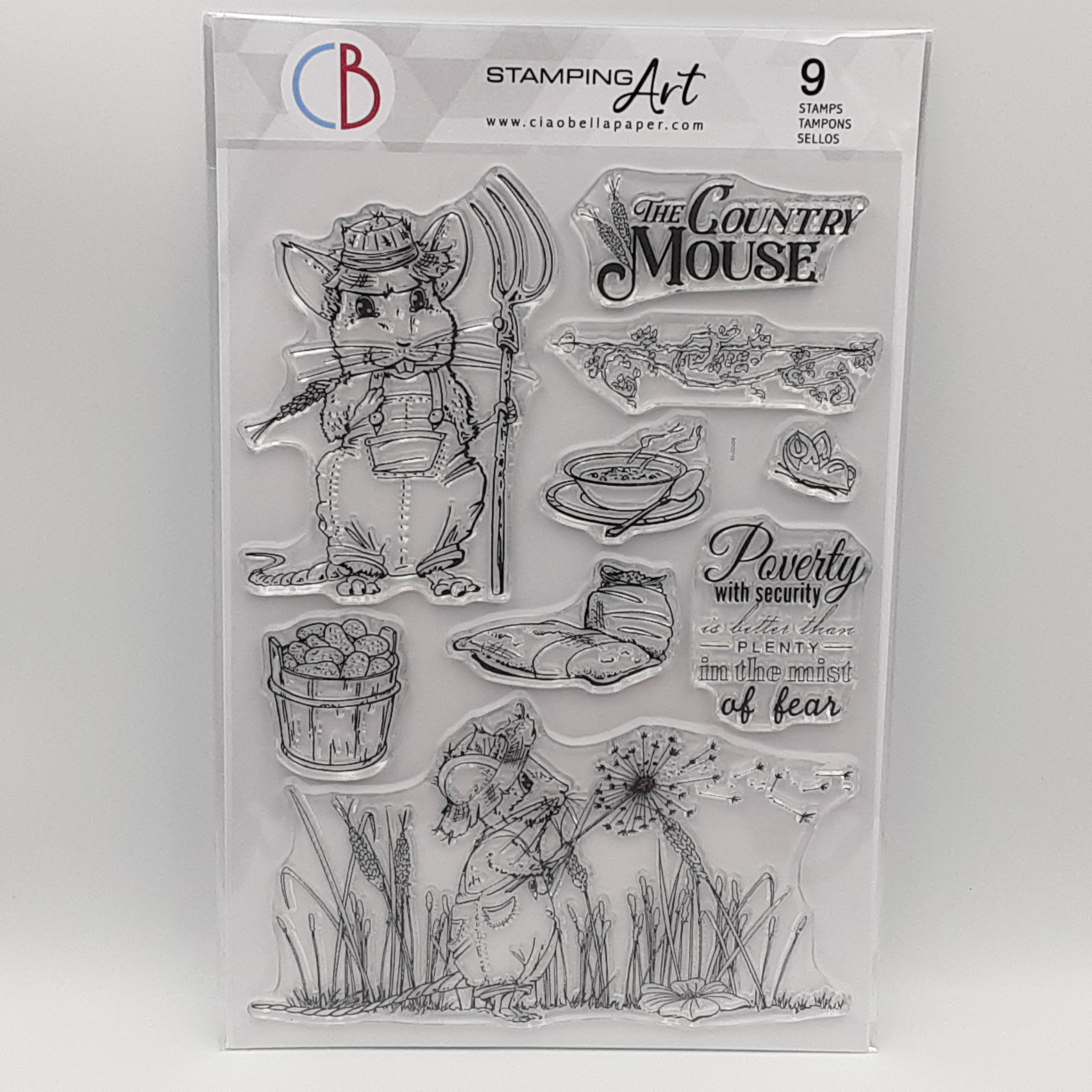 clear stamp the country mouse