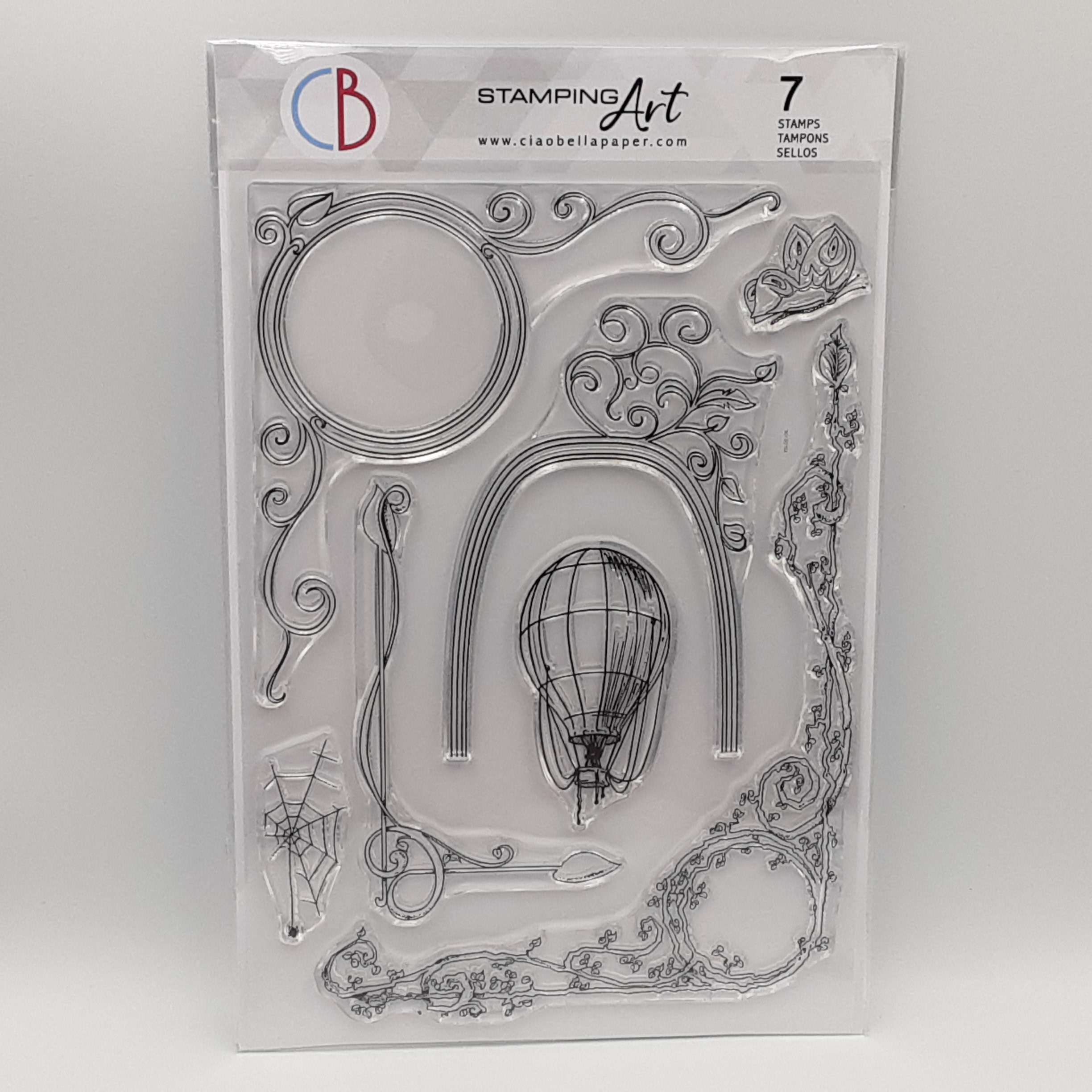 clear stamp aesop's fables frames
