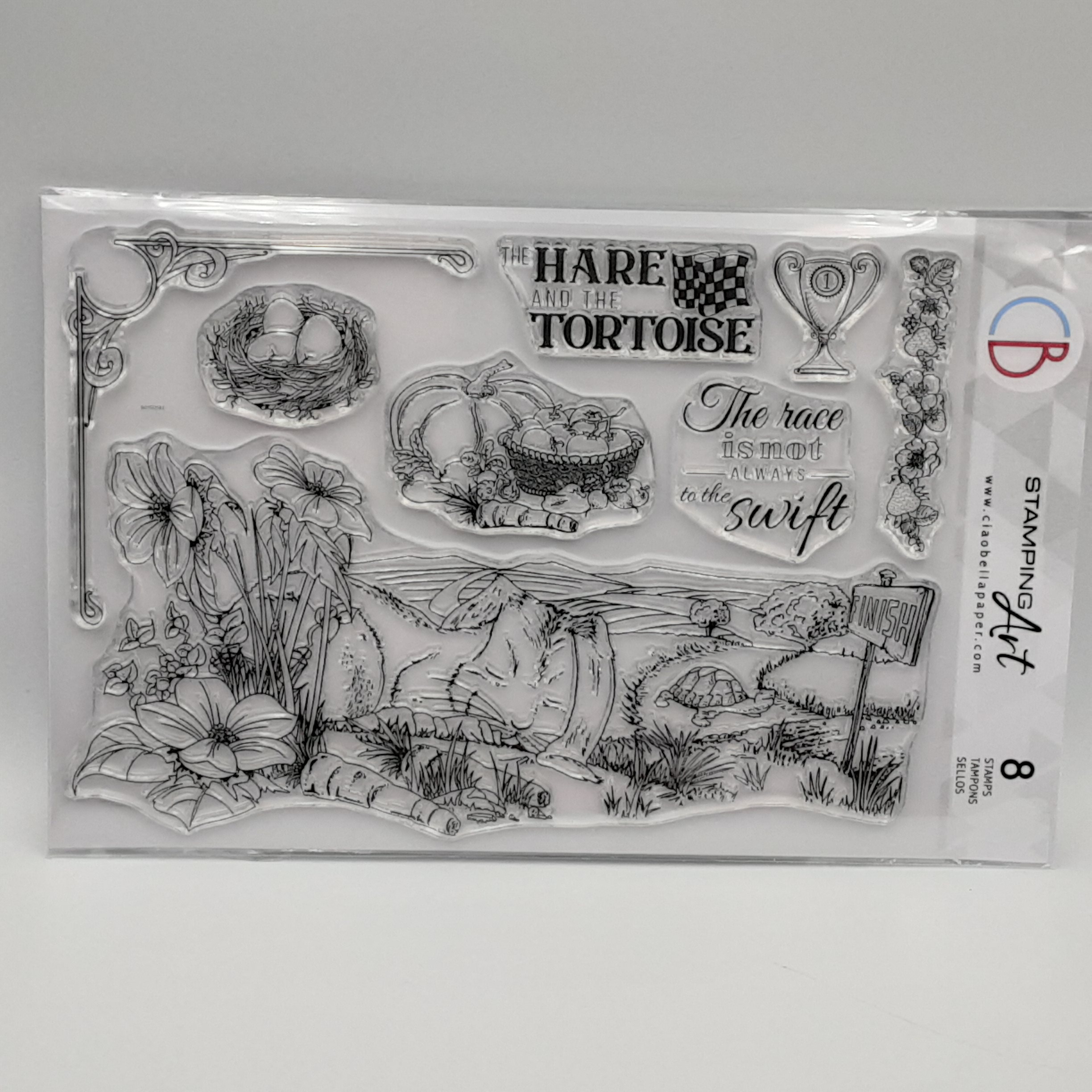 clear stamp the hare and the tortoise