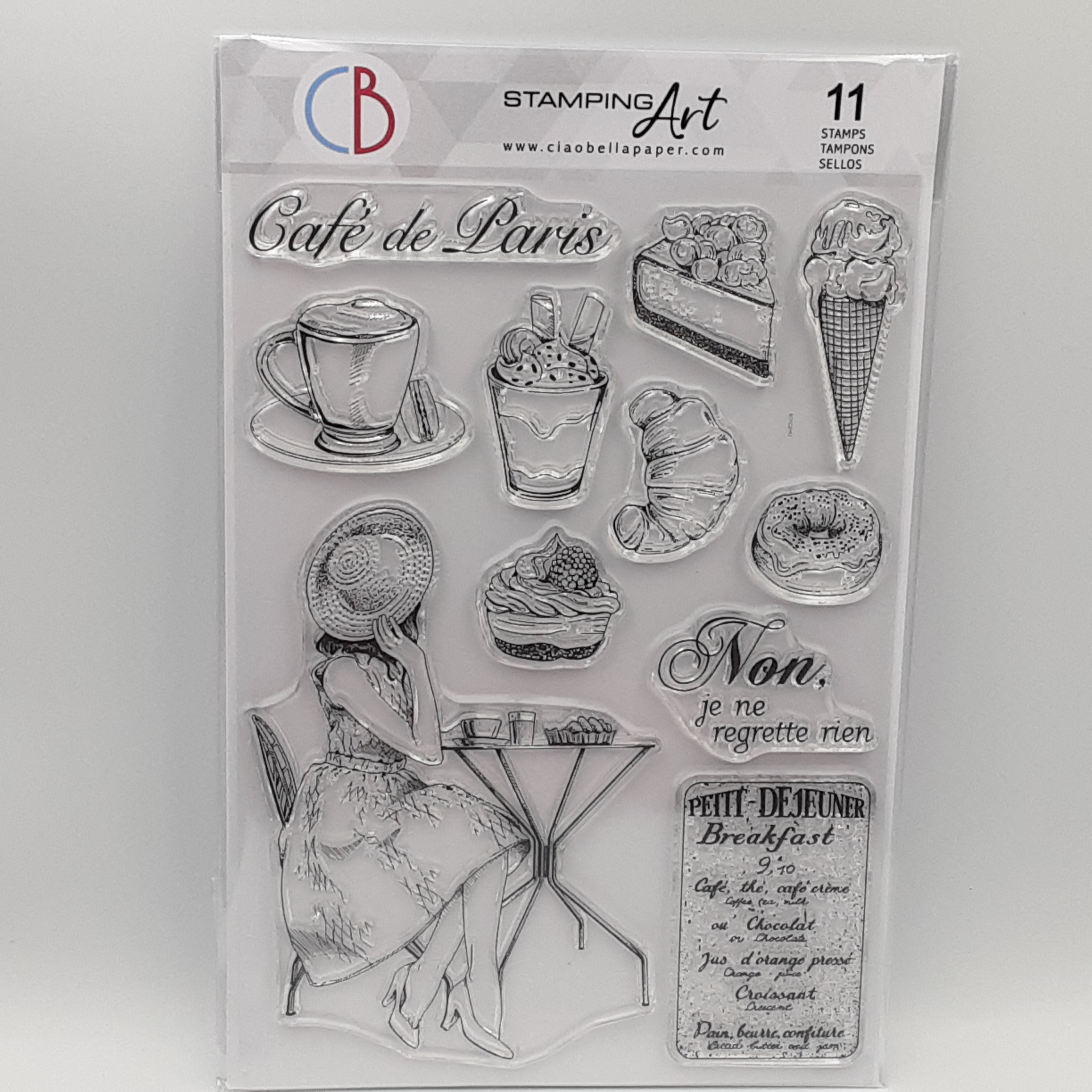 clear stamp le boulangerie