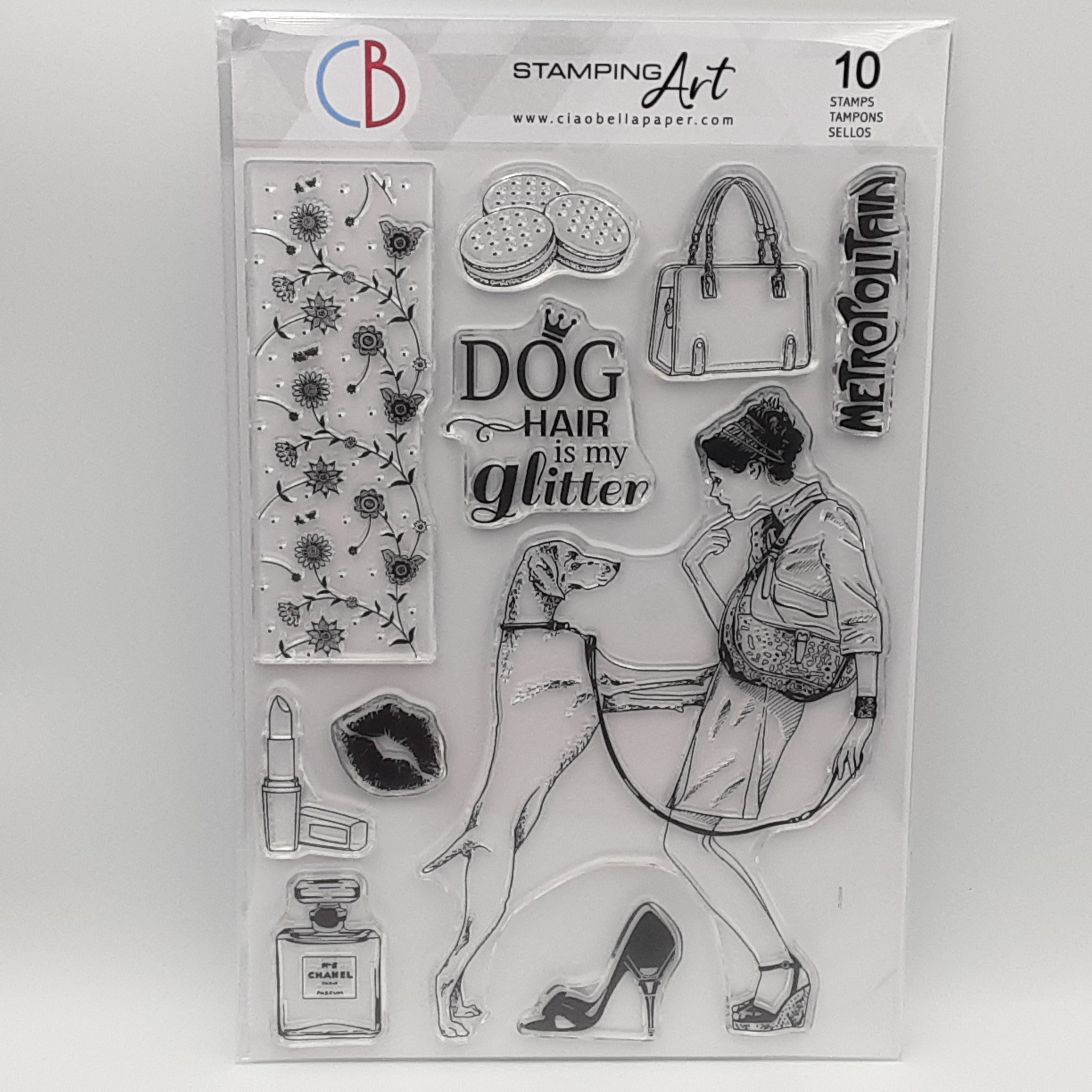 clear stamp dog hair is my glitter