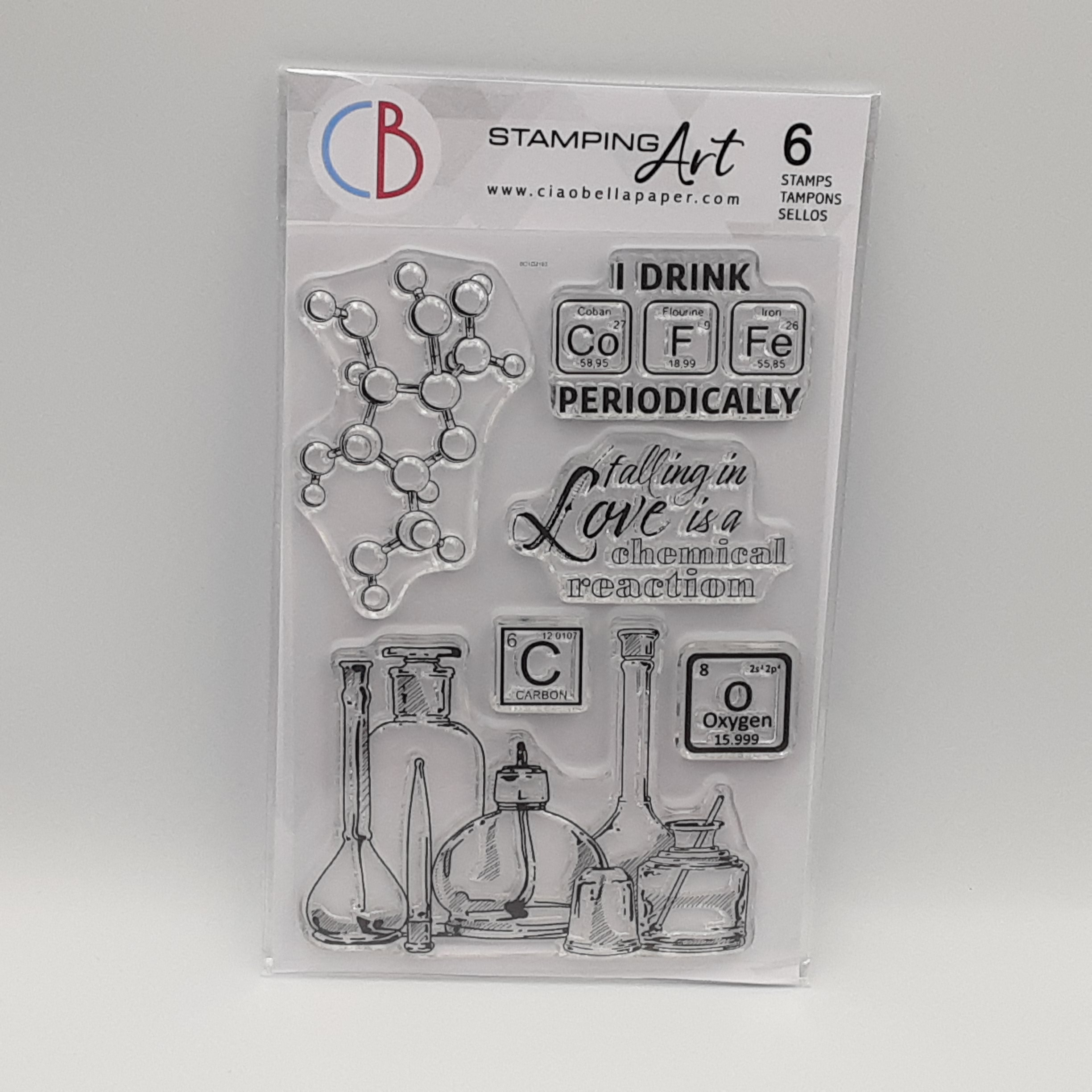 clear stamp chemical reaction