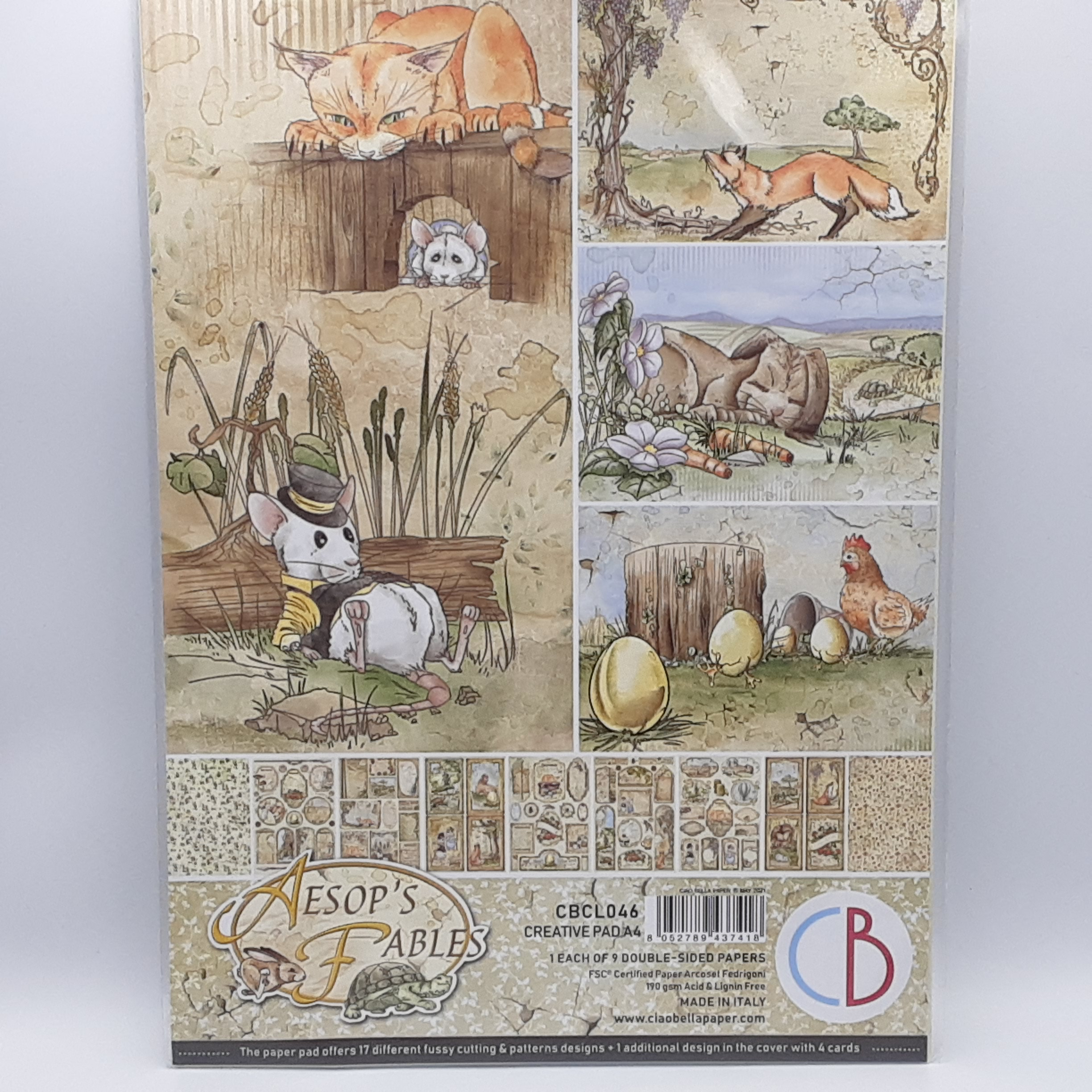 aesop's fables creative pad A4