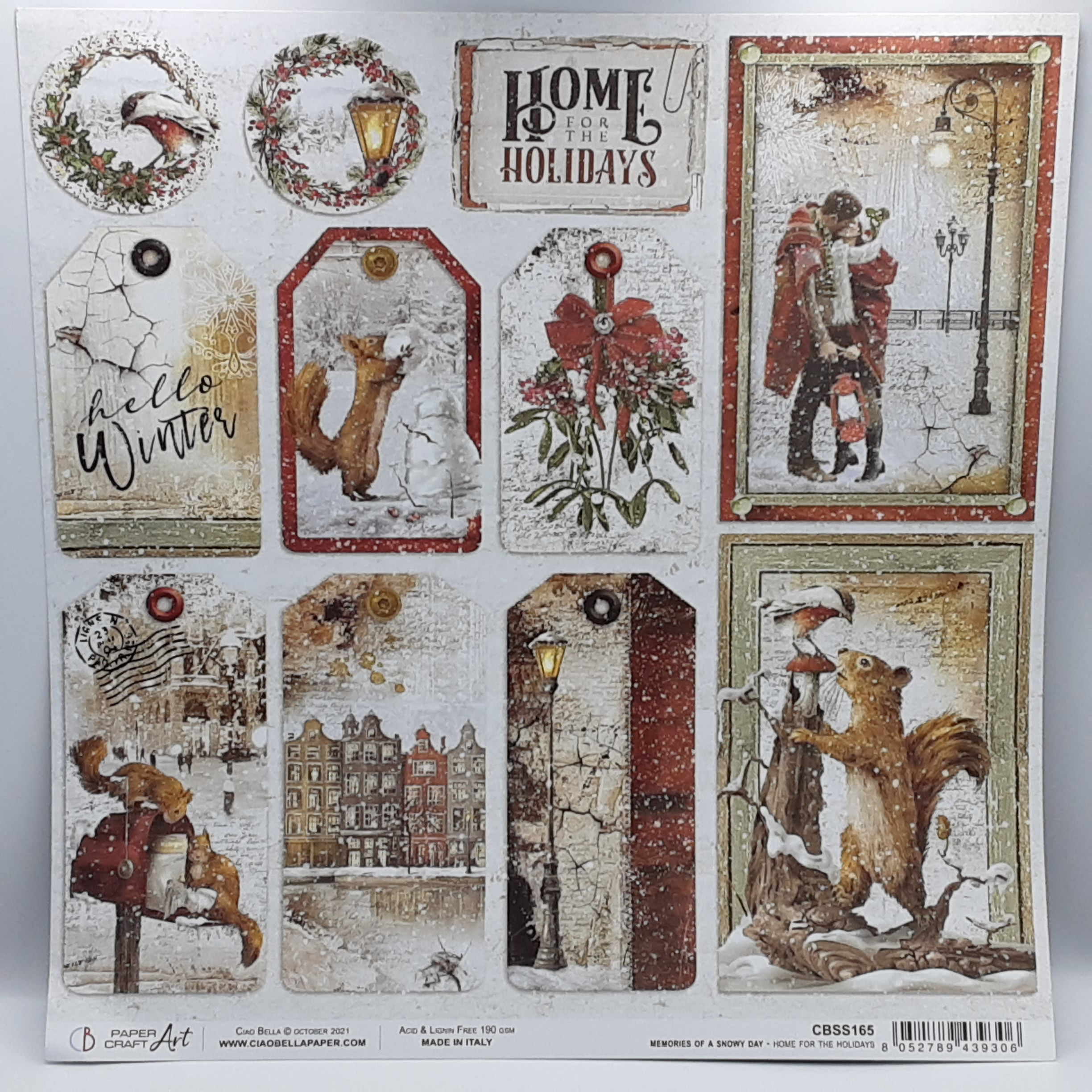 Home for the holidays paper sheet