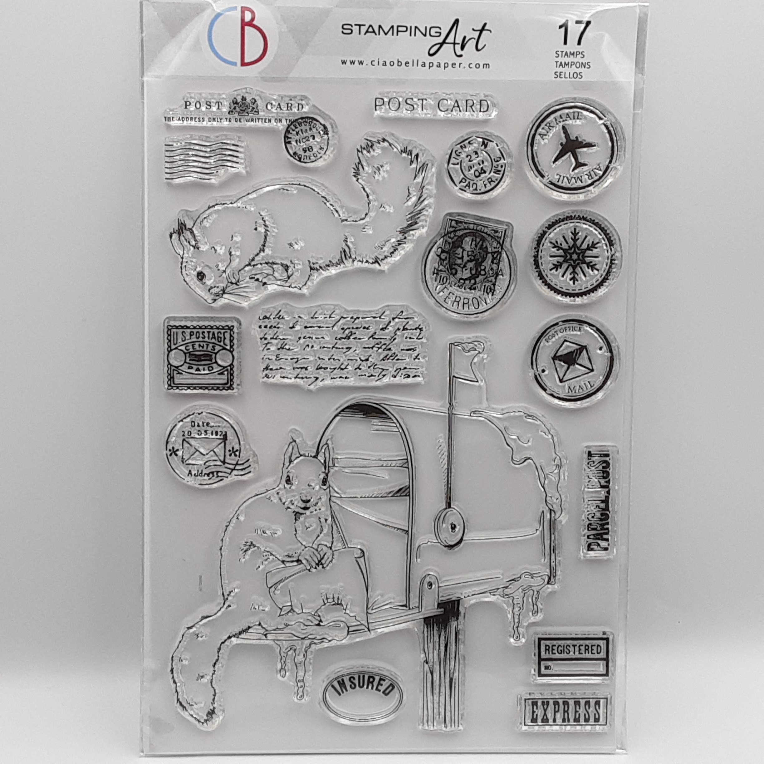 Mail box clear stamp A5
