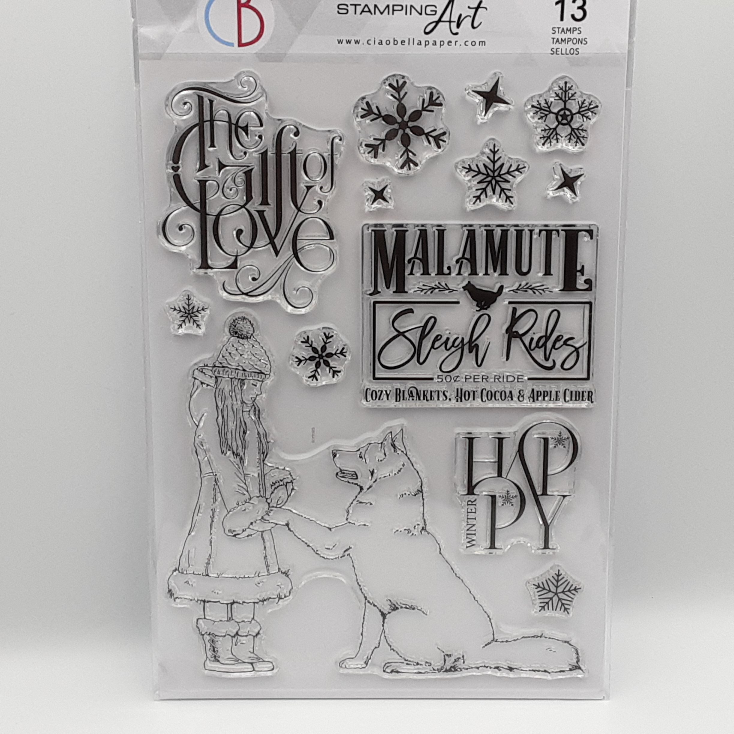 The gift of love clear stamp A5