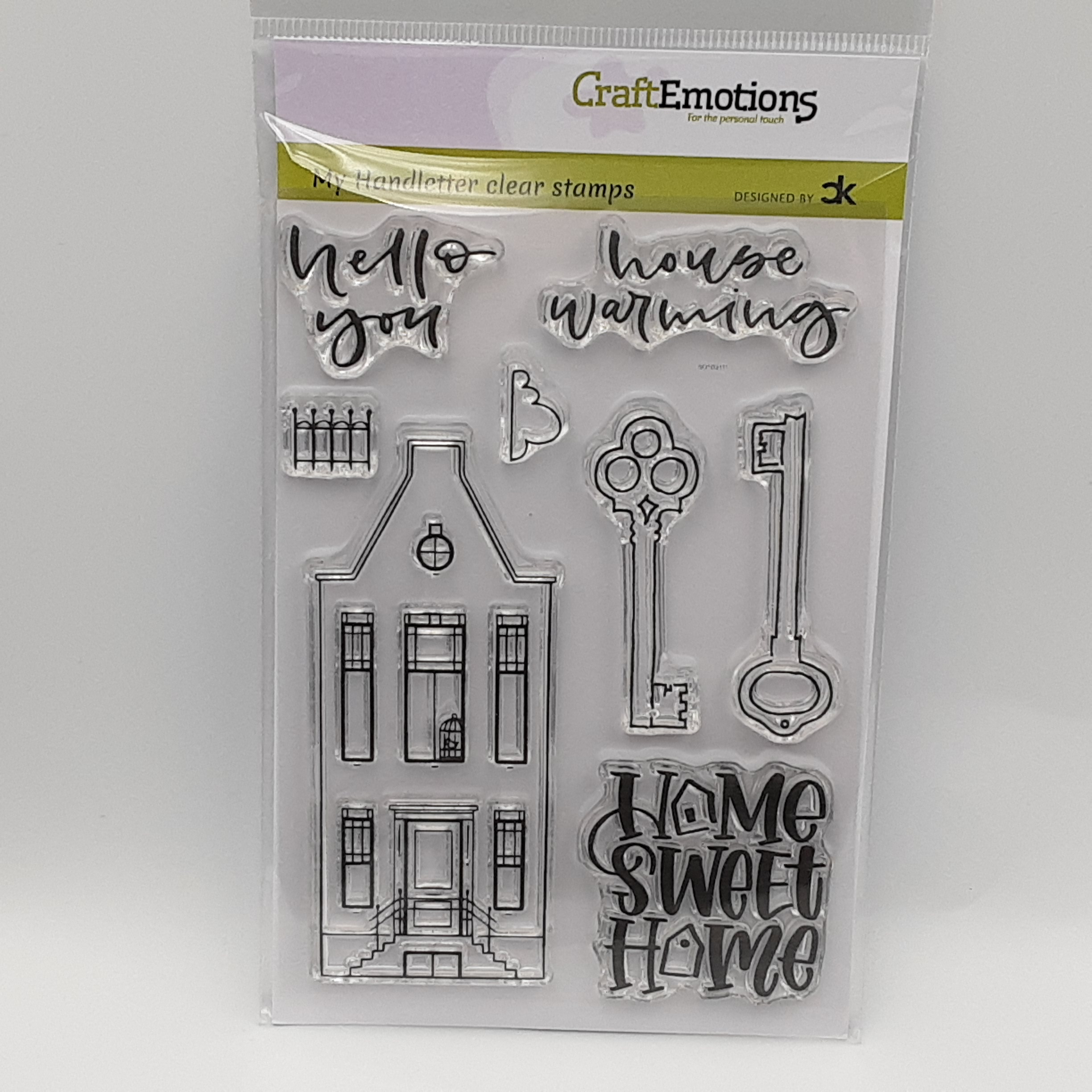 Clearstamp handletter new home 3