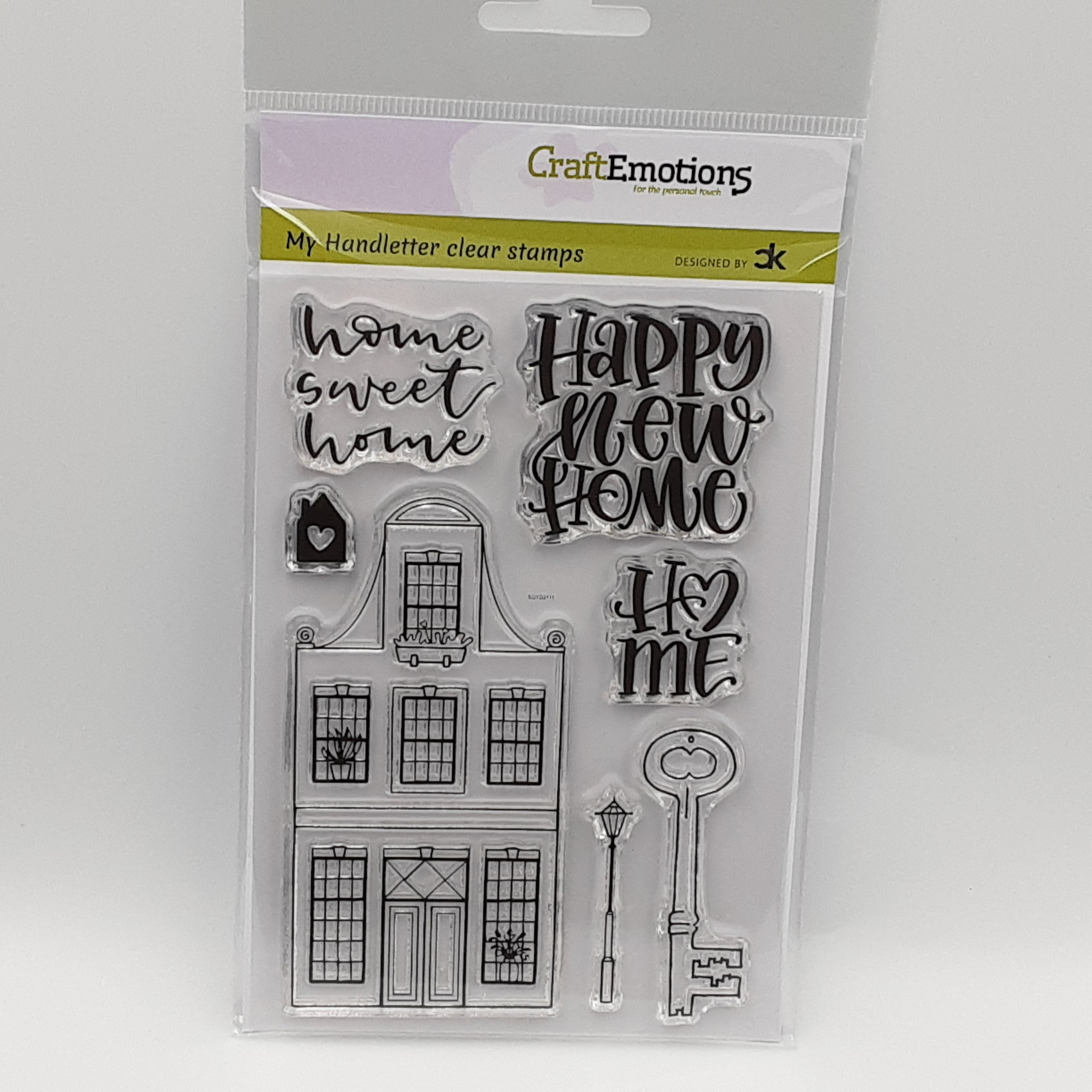 Clearstamp handletter new home 1