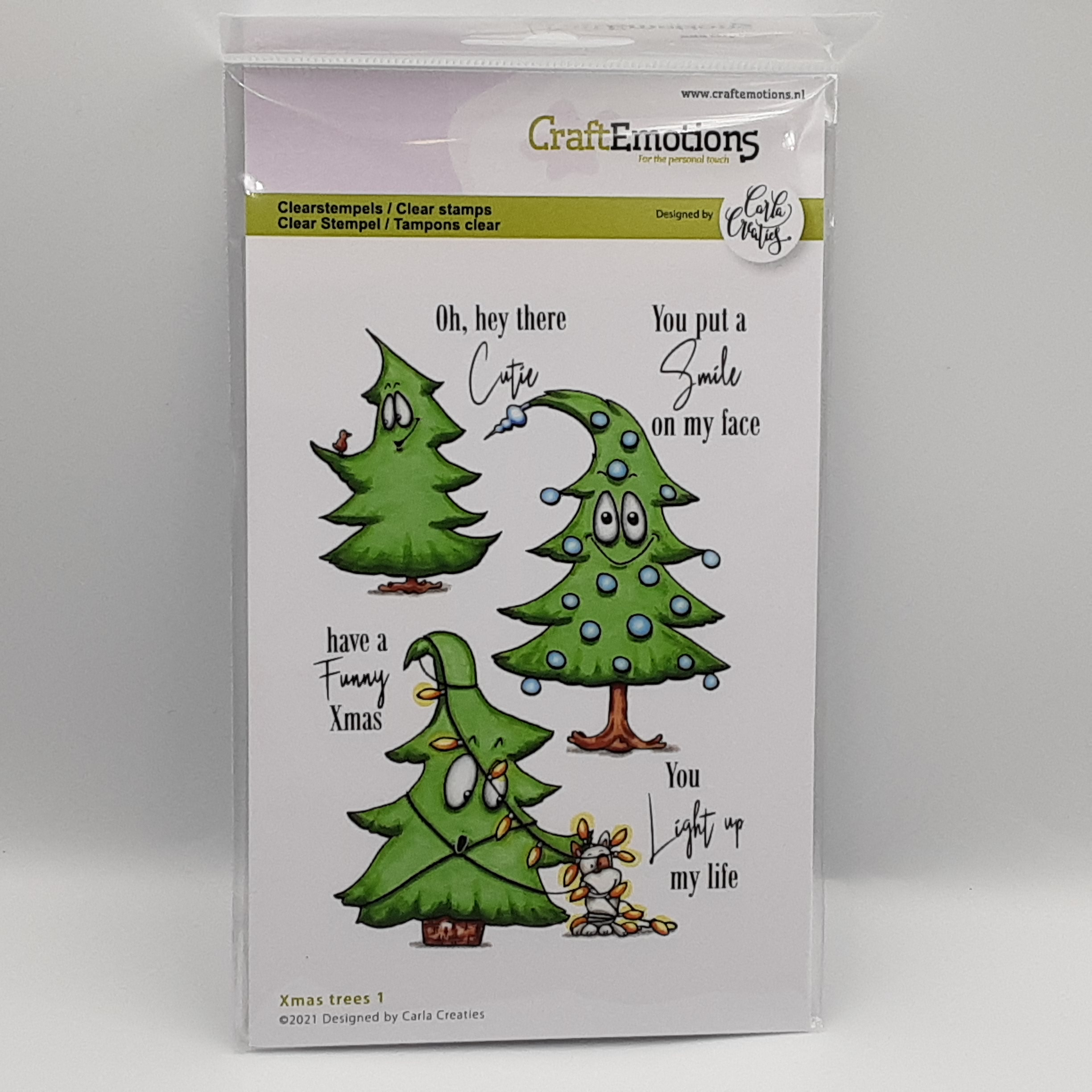 Xmas trees 1 (Engels) A6 clear stamp