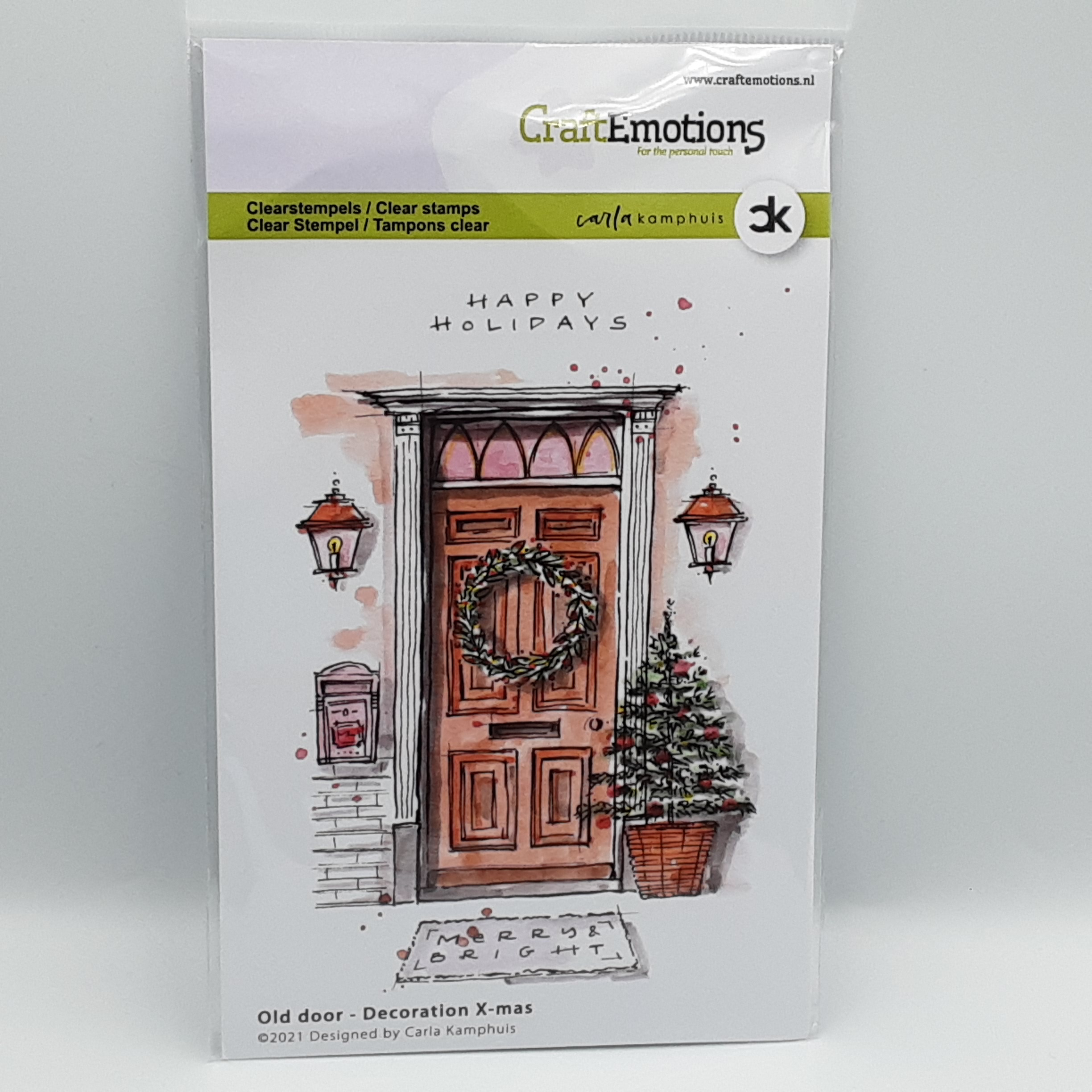 Oude deur Decoration X-mas A6 clear stamp