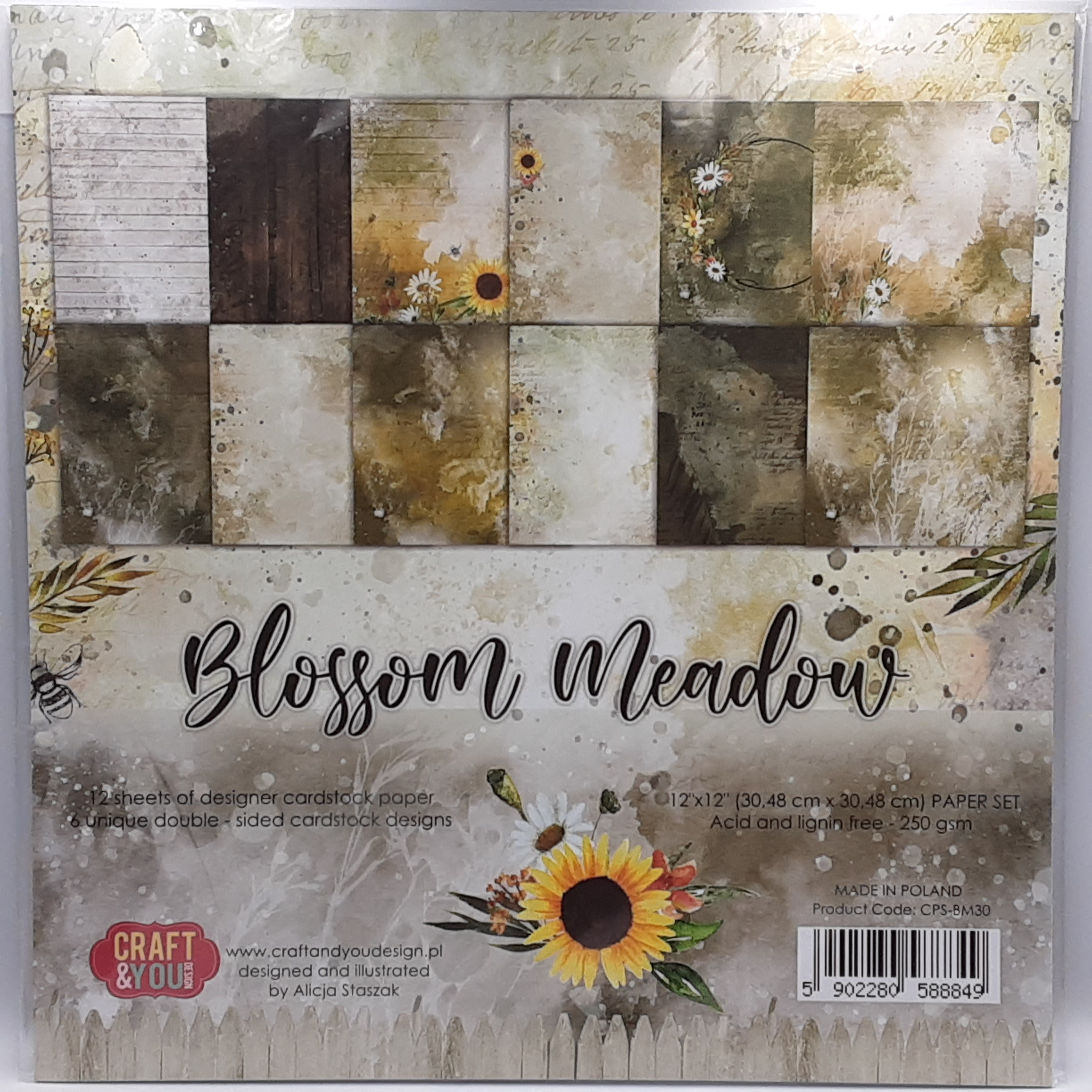 Blossom meadow paperpad 12