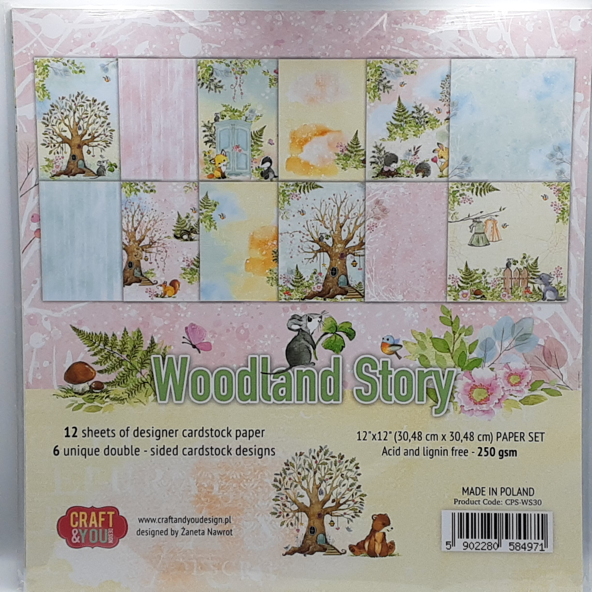 Woodland story paperpad 12