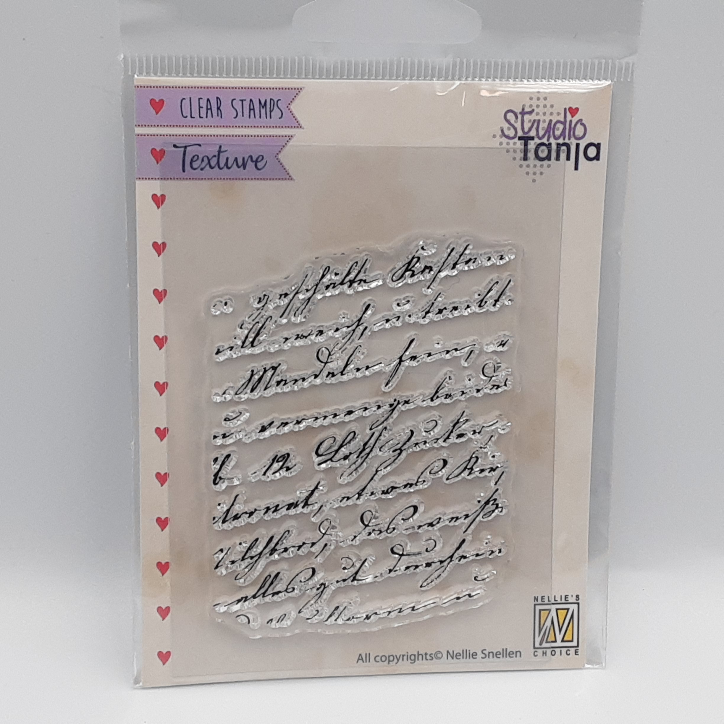 Writing clear stamp