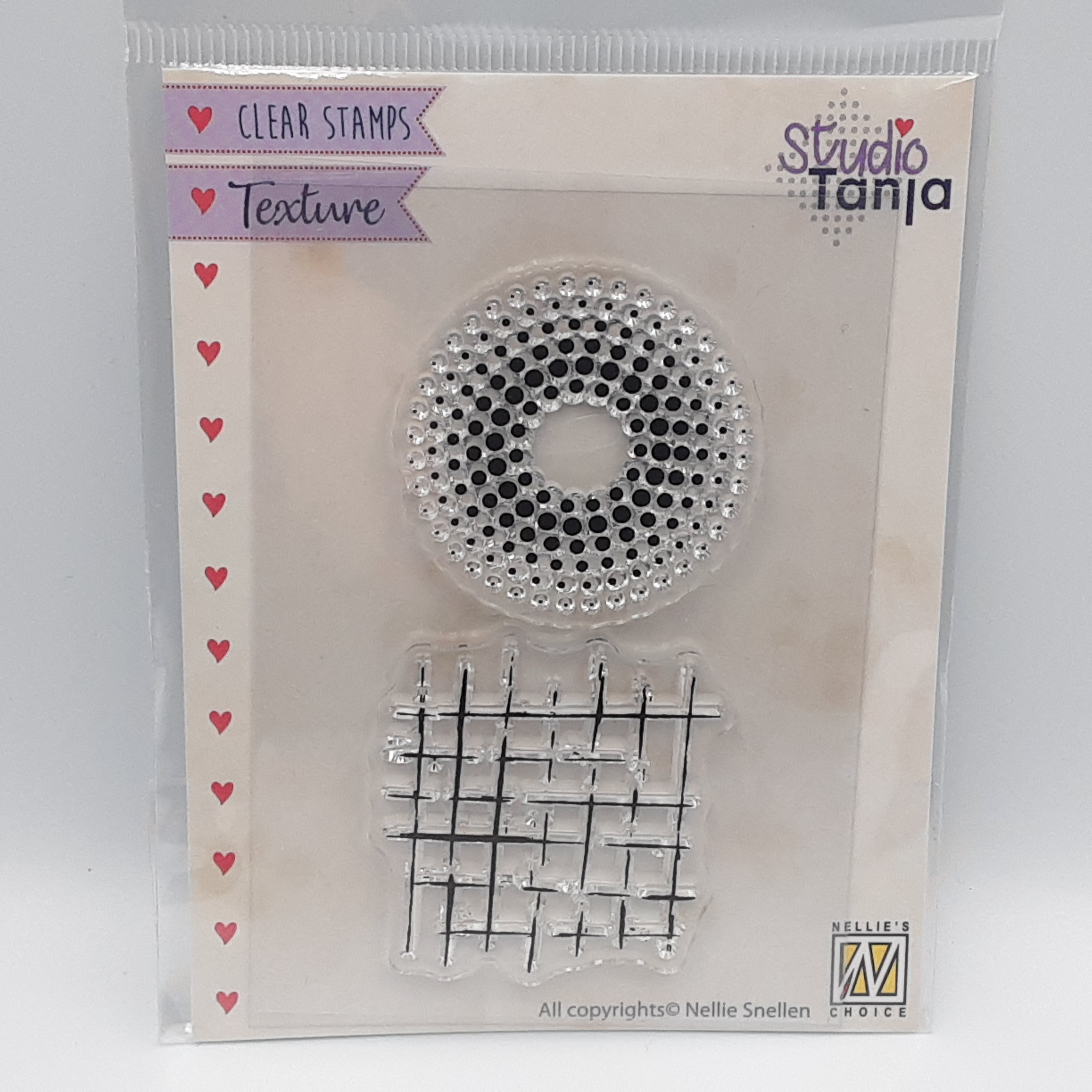 Dots and lines clear stamp