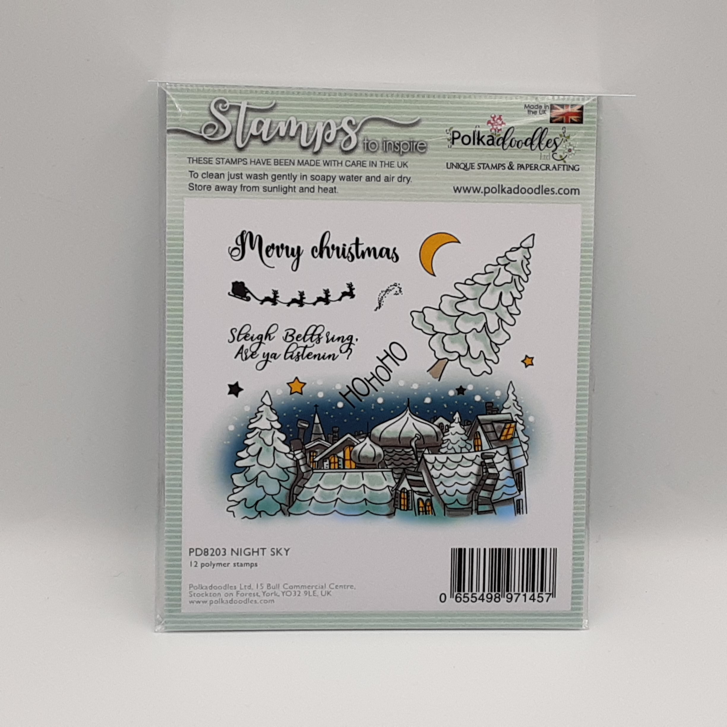clear stamp night sky