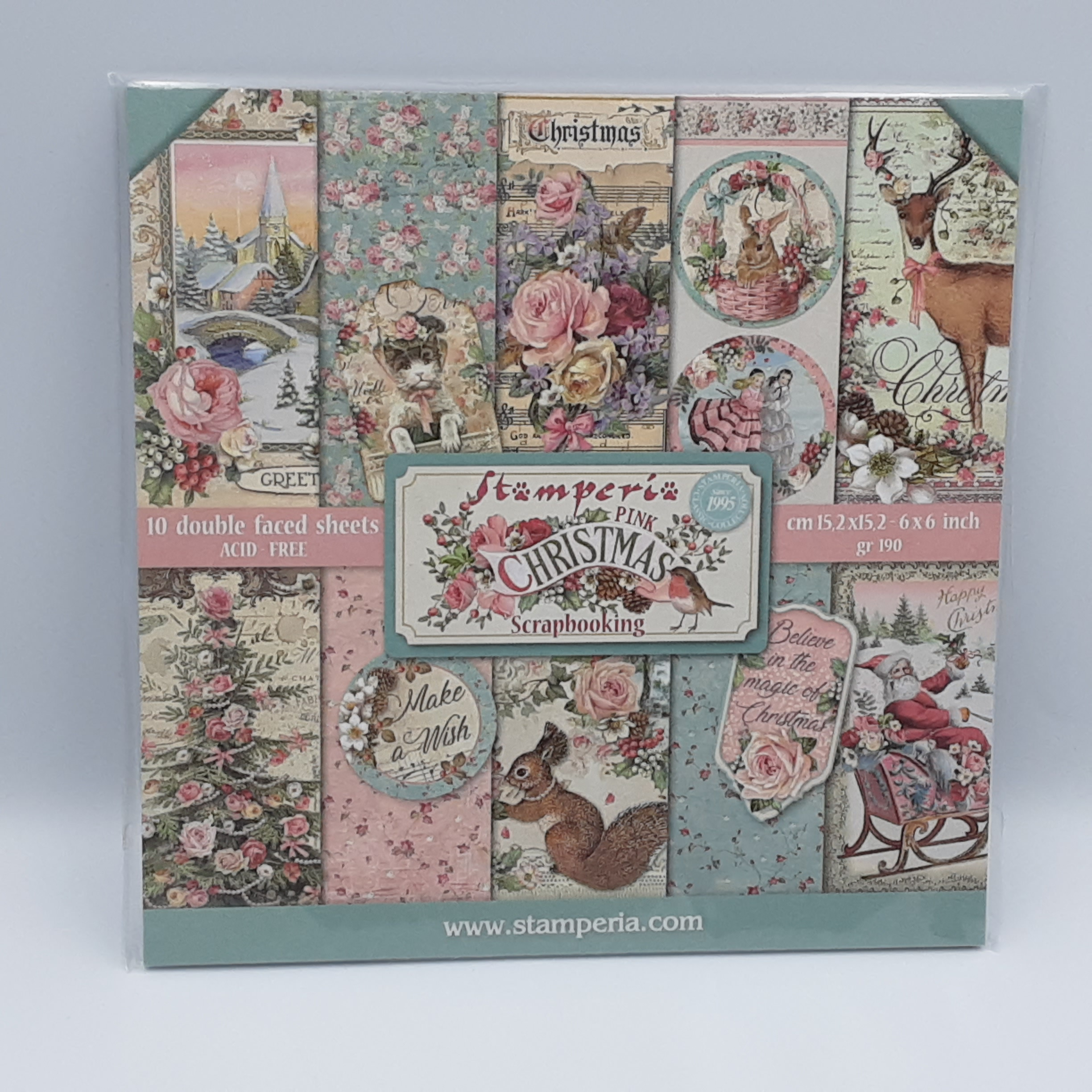 Pink christmas paperpack 6