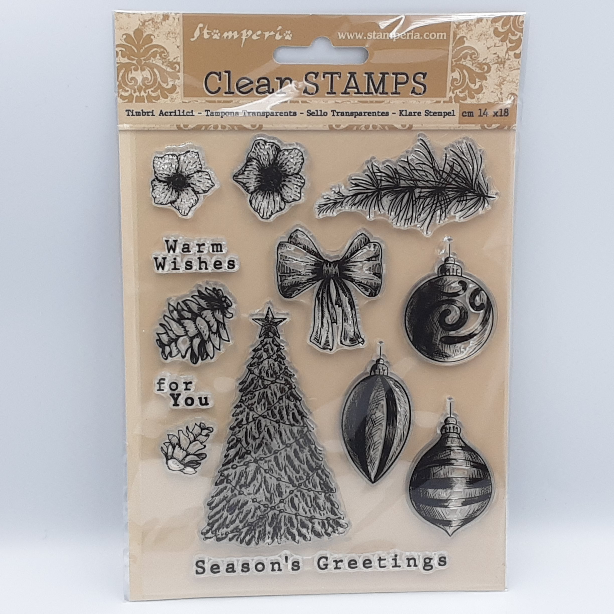 Romantic christmas clear stamp