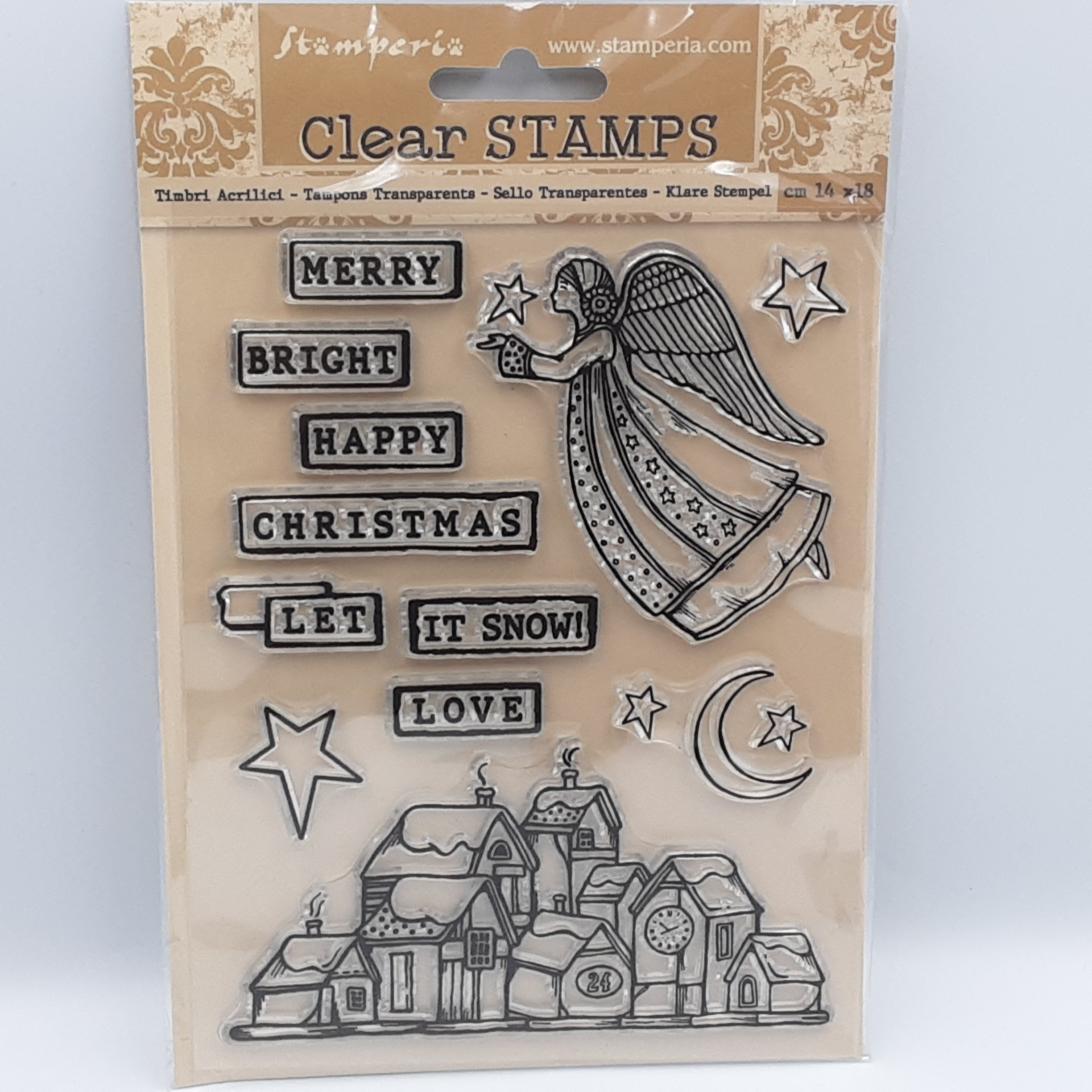 Christmas patchwork clear stamp
