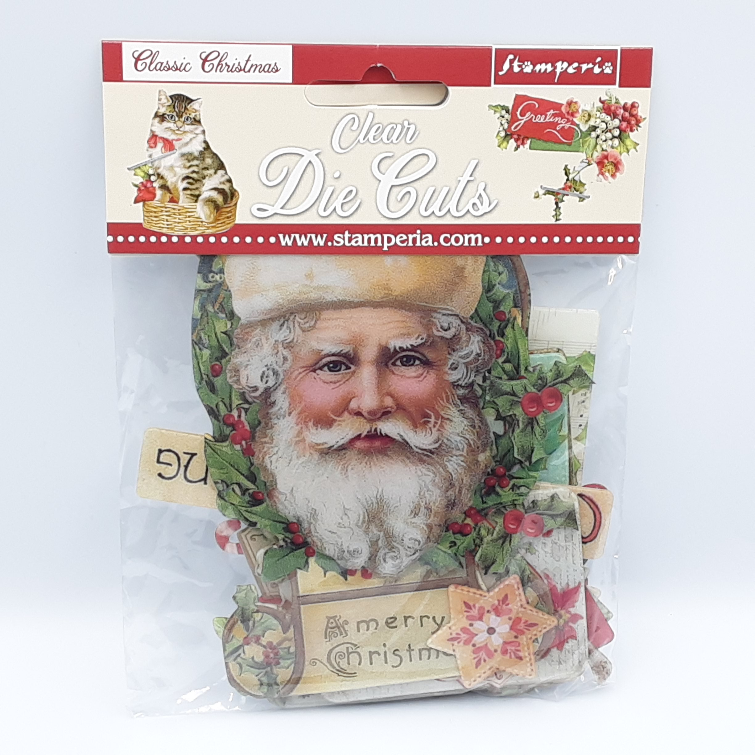Classic christmas clear die cuts