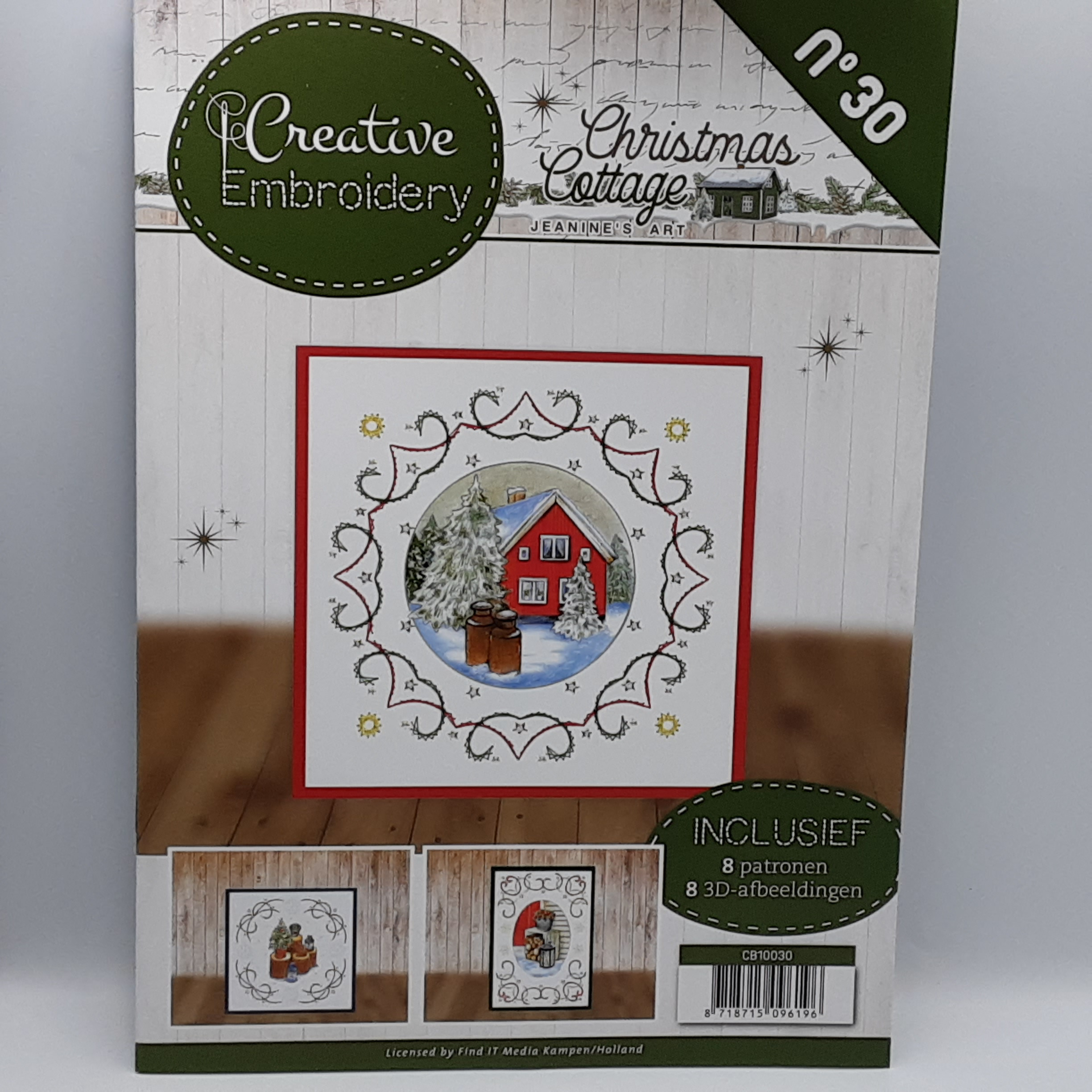 creative embroidery 30 christmas cottage