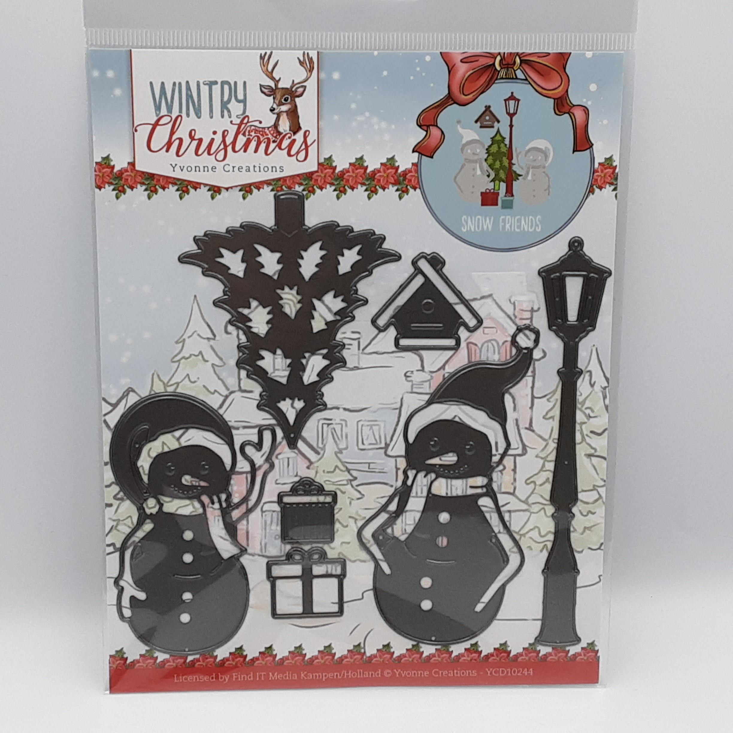 Wintry christmas snow friends stansmal