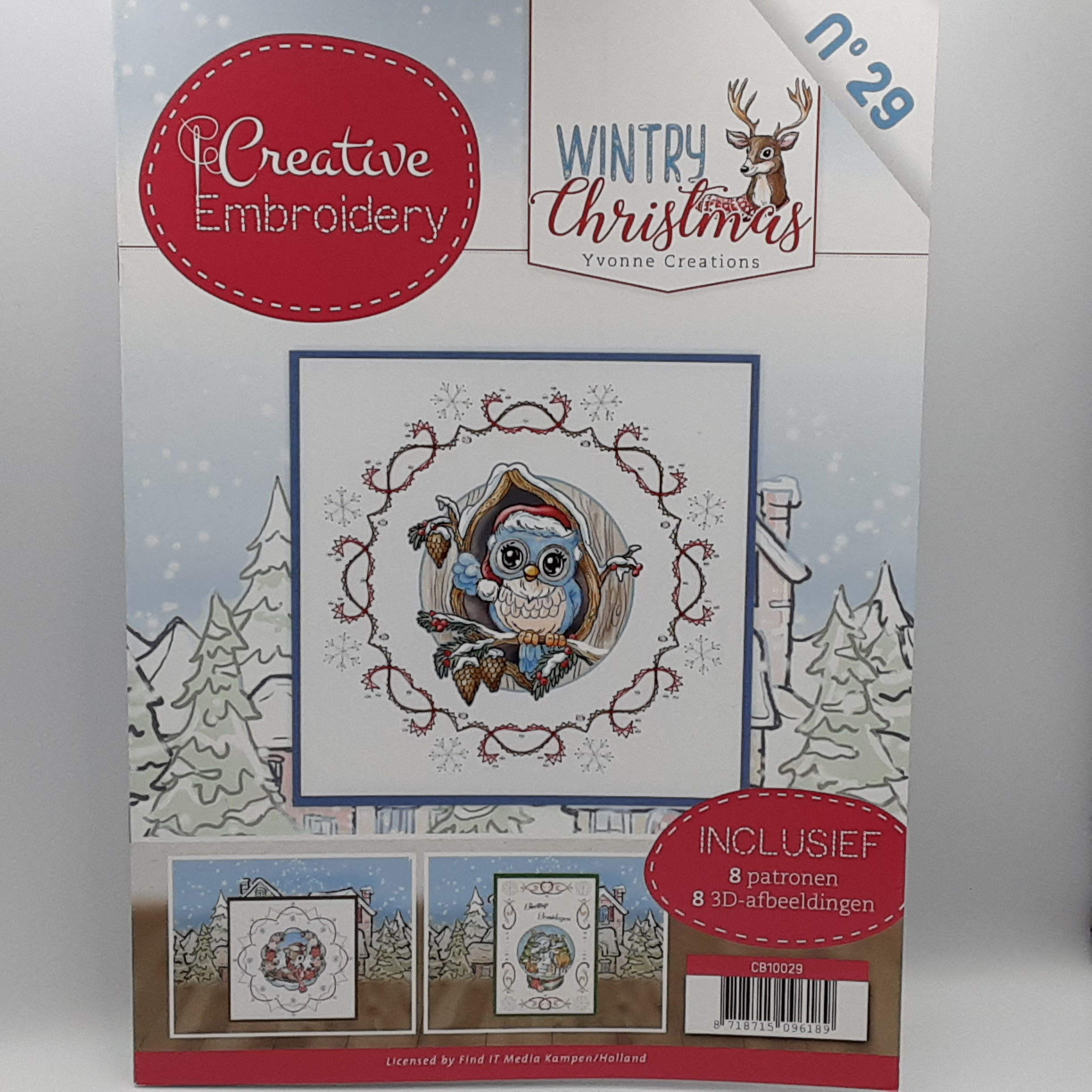 creative embroidery 29 Wintry christmas
