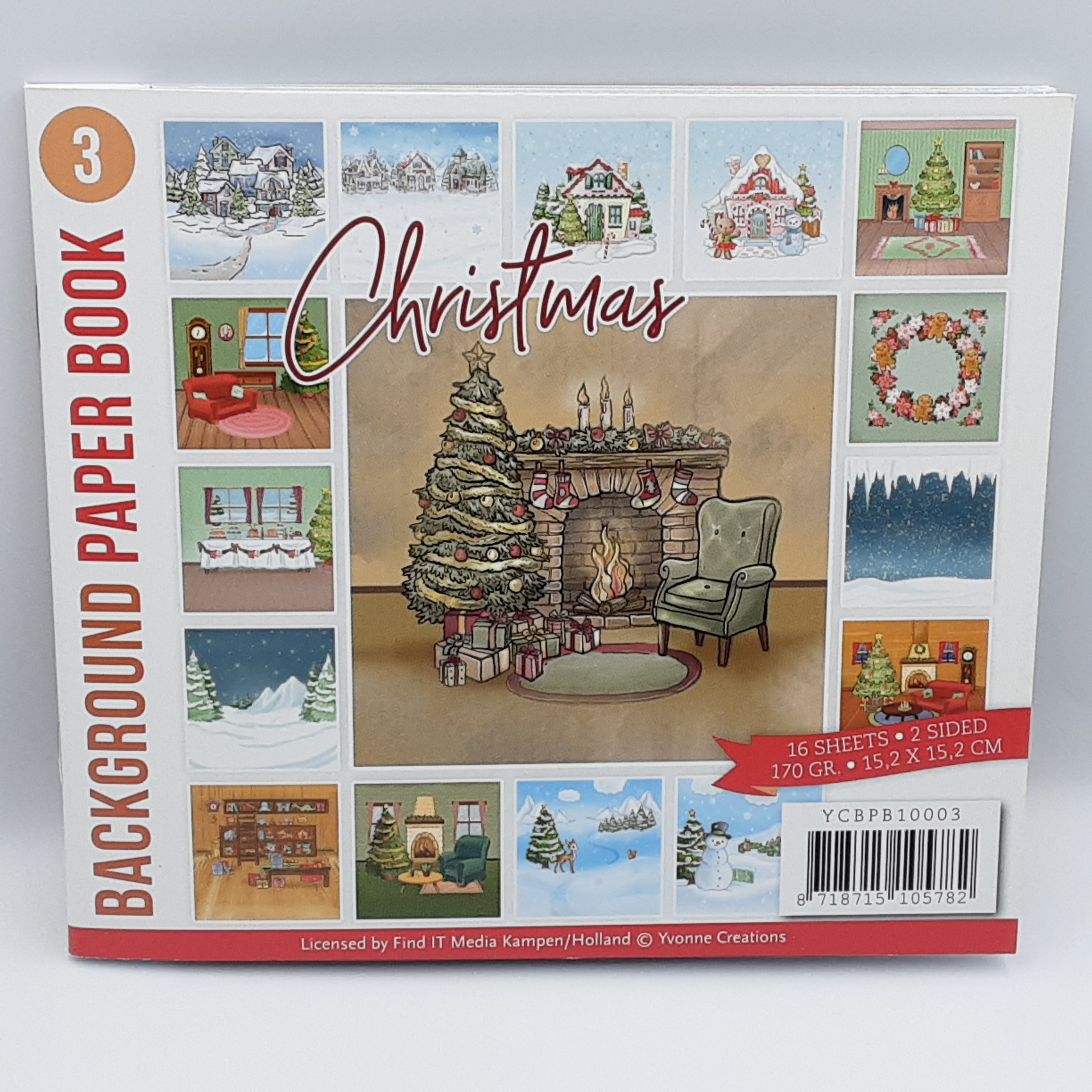 Background paper book 3 christmas